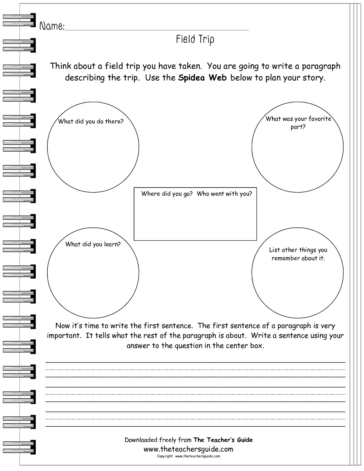 18 Best Images Of Field Trip Reflection Worksheet
