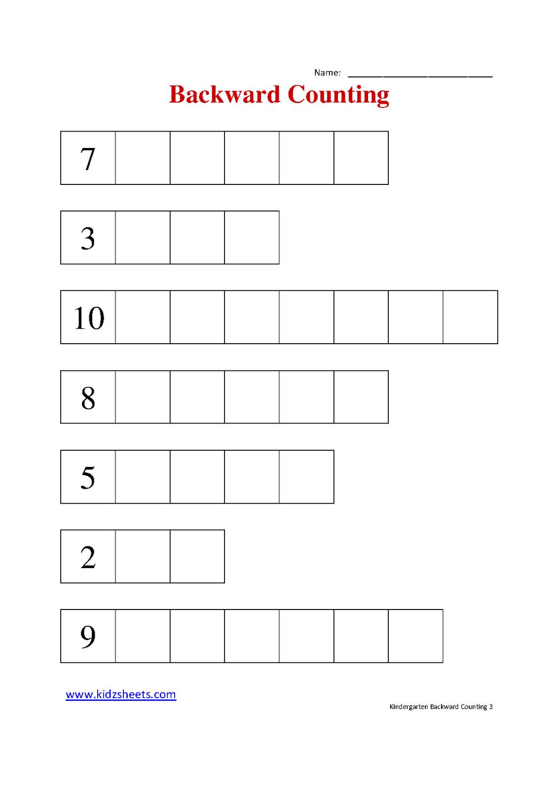 16 Best Images Of Counting Backwards Worksheets 1st Grade