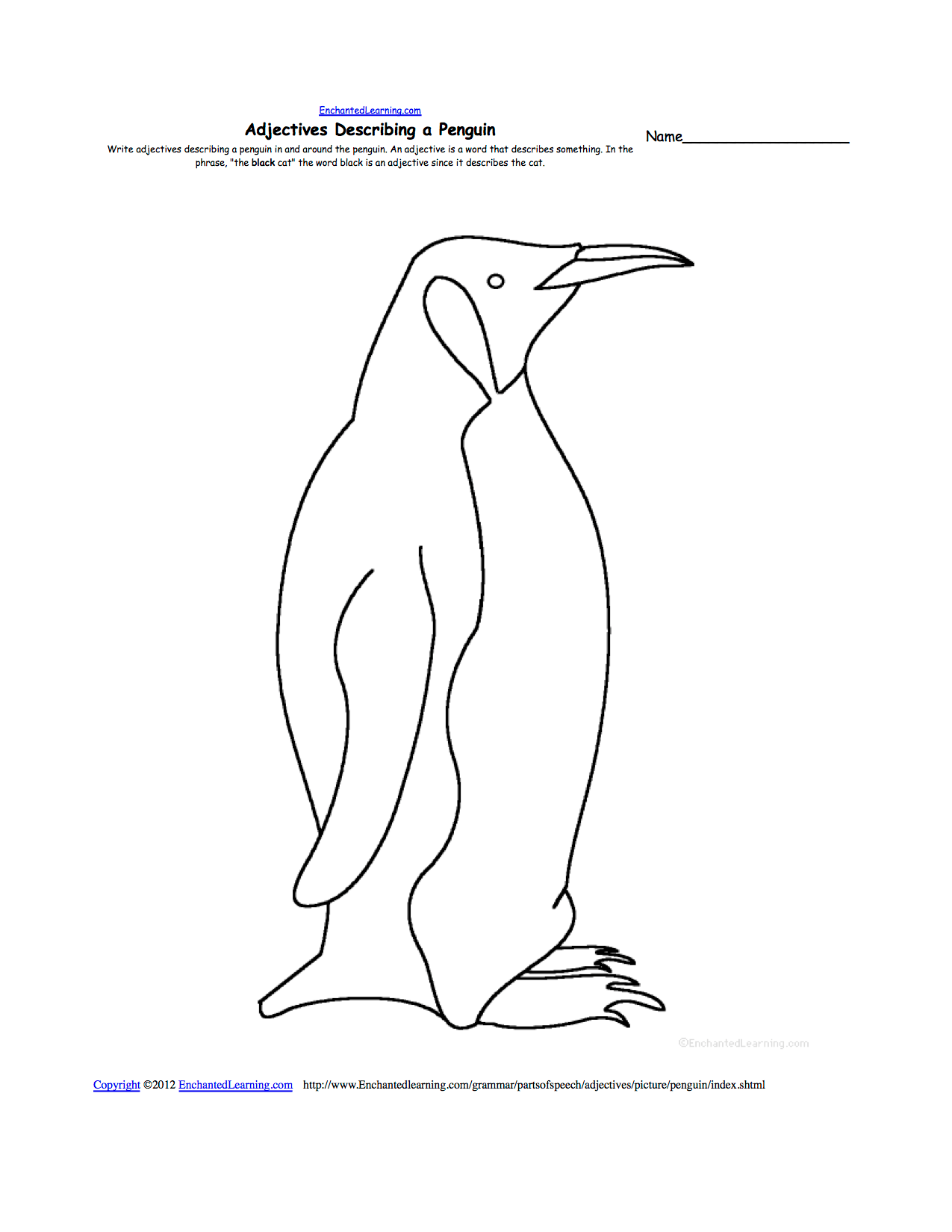 9 Best Images Of Parts Of A Penguin Worksheet