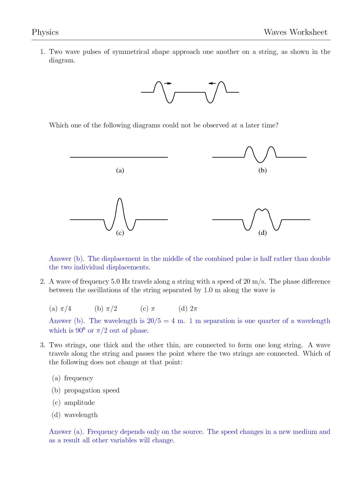 11 Best Images Of Wave Diagram Worksheet