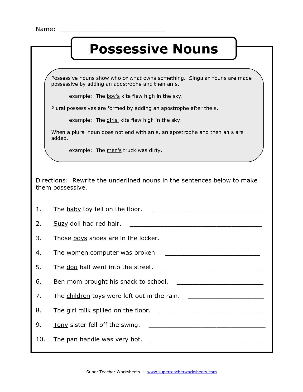14 Best Images Of Pronouns Worksheets Grade 3