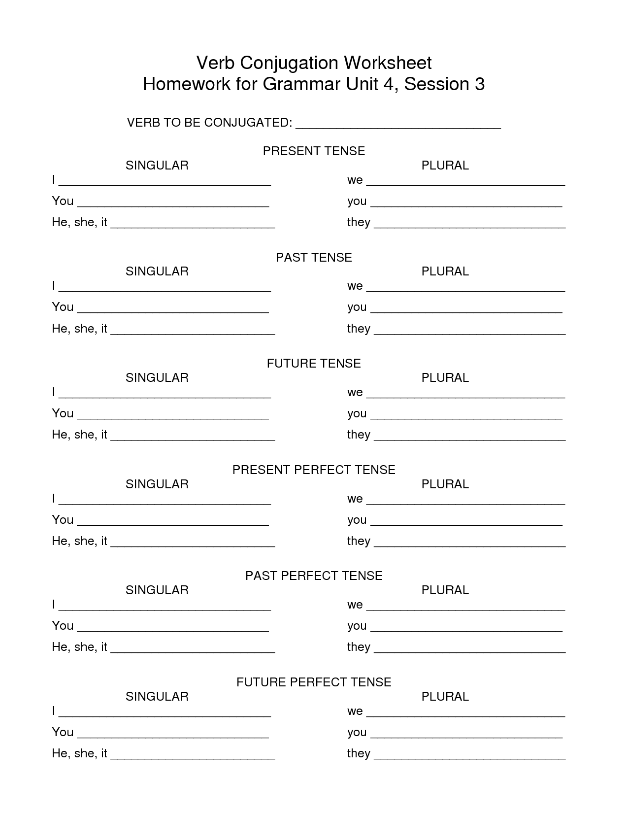 Ir Basic French Worksheet