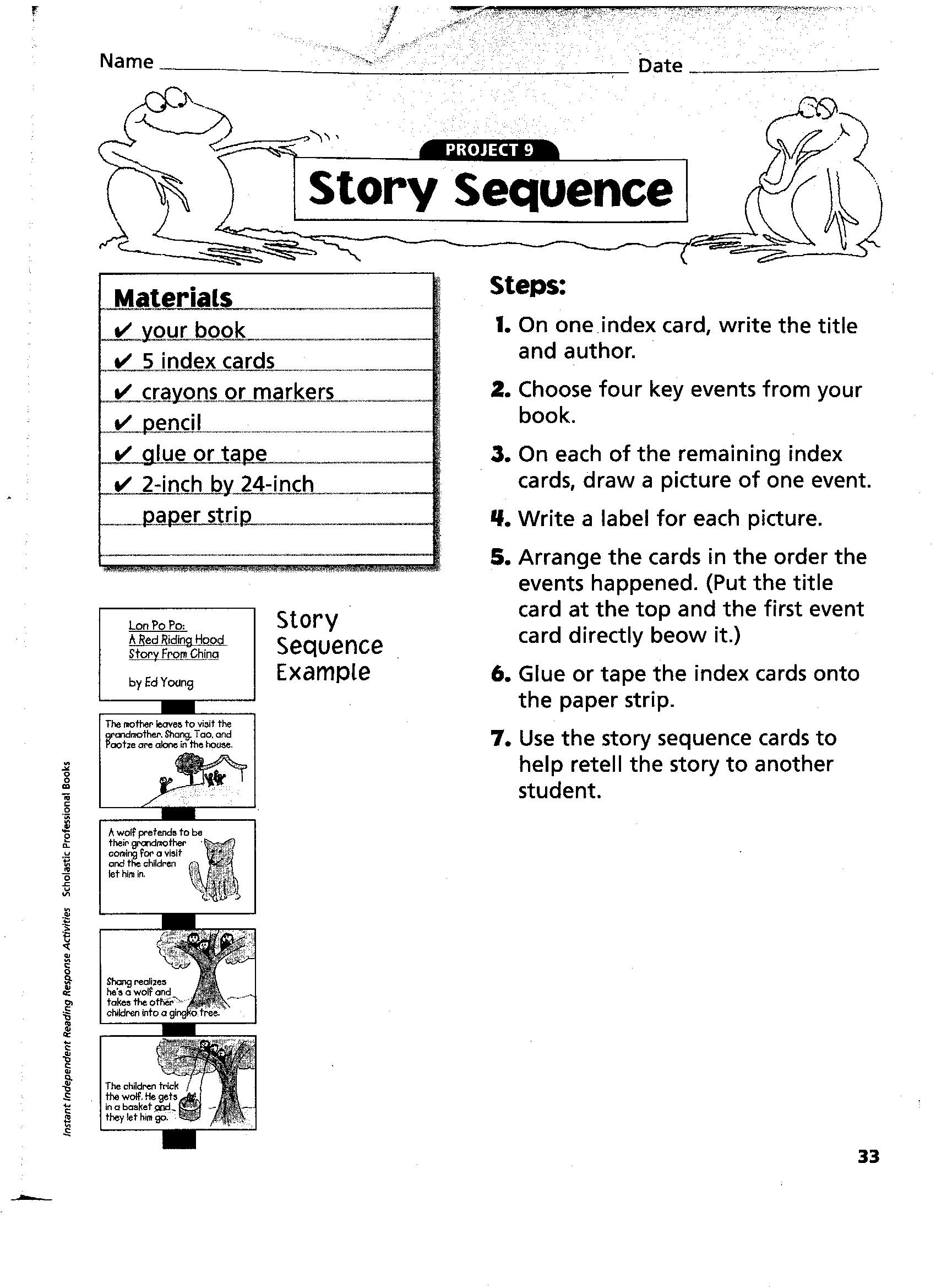 13 Best Images Of Sequencing Worksheets 3rd Grade
