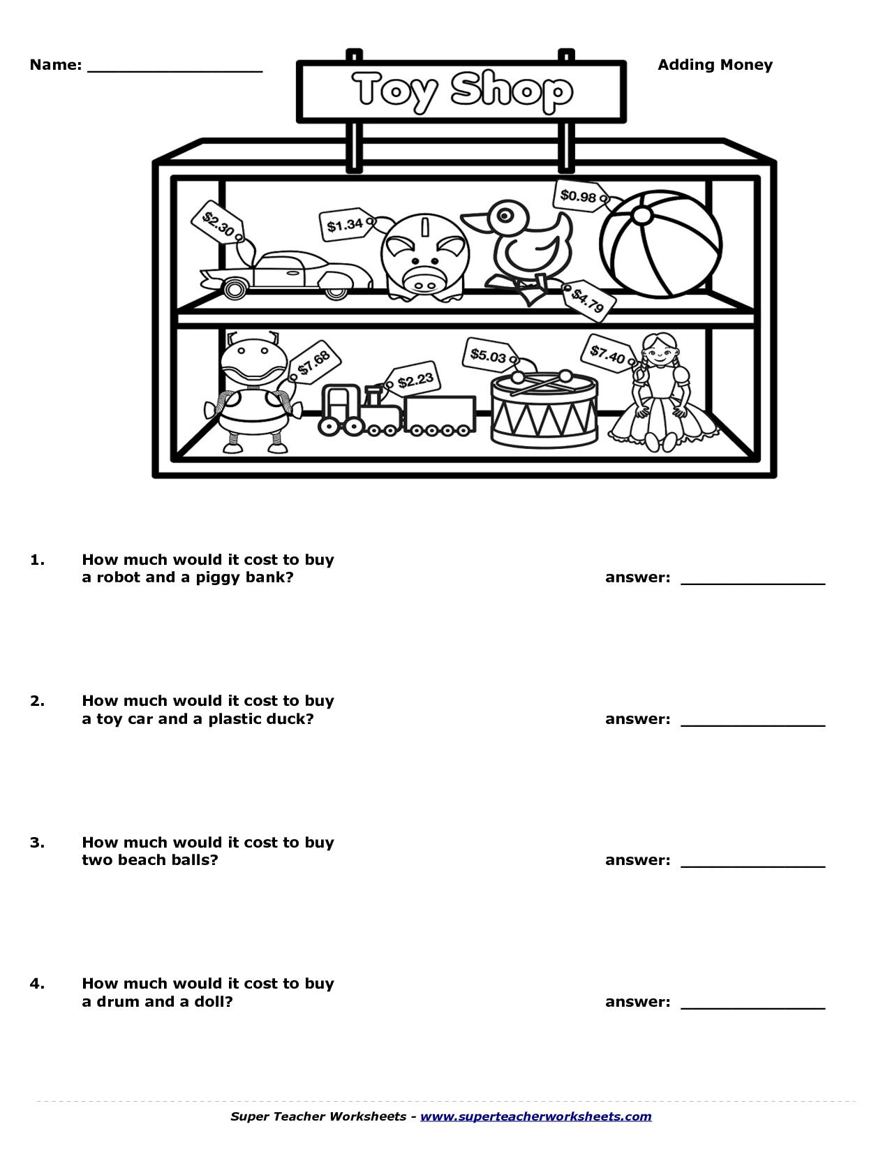 Super Turtle Math Worksheet