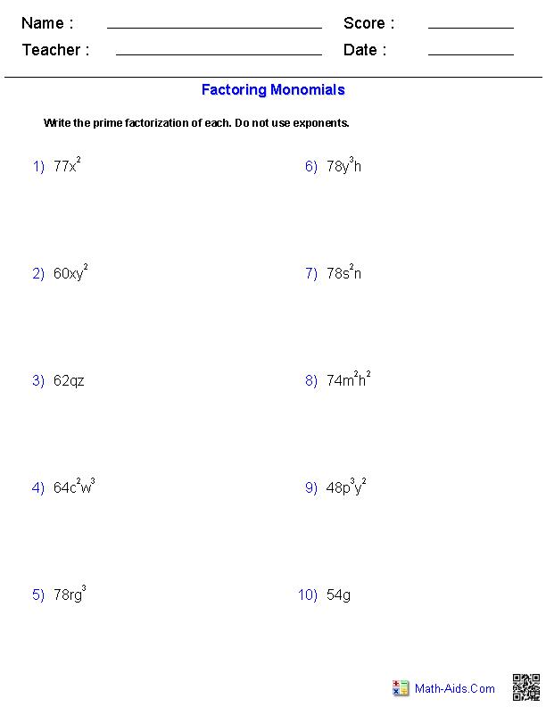 11 Best Images Of Multiplying Binomials Worksheet