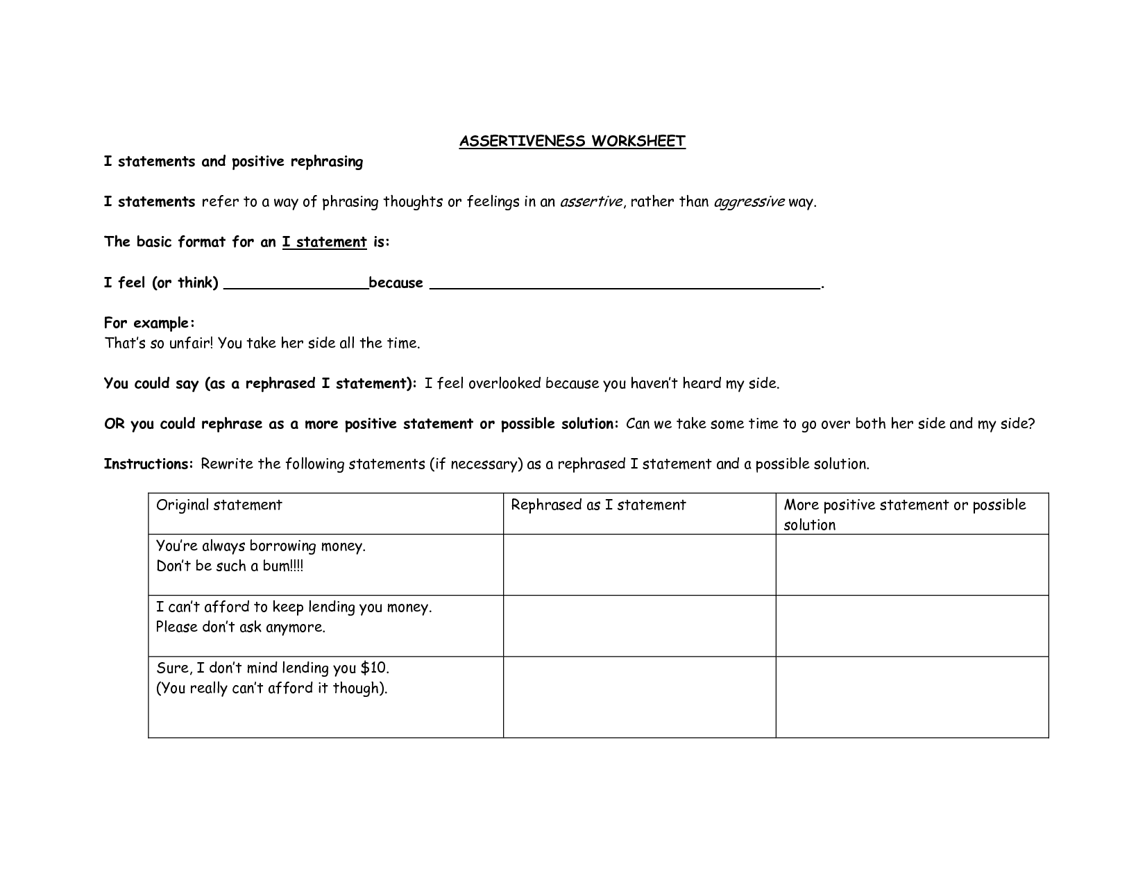 16 Best Images Of Self Reflection Worksheets For Adults