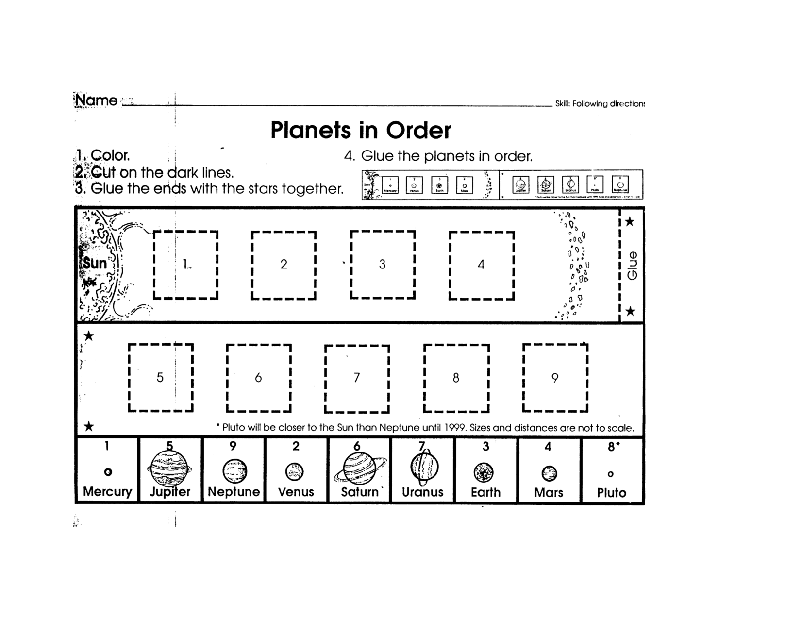 9 Best Images Of Planet Order Worksheet