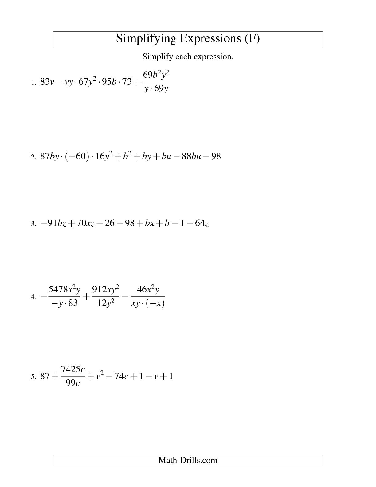 10 Best Images Of Simplifying Radicals Worksheet