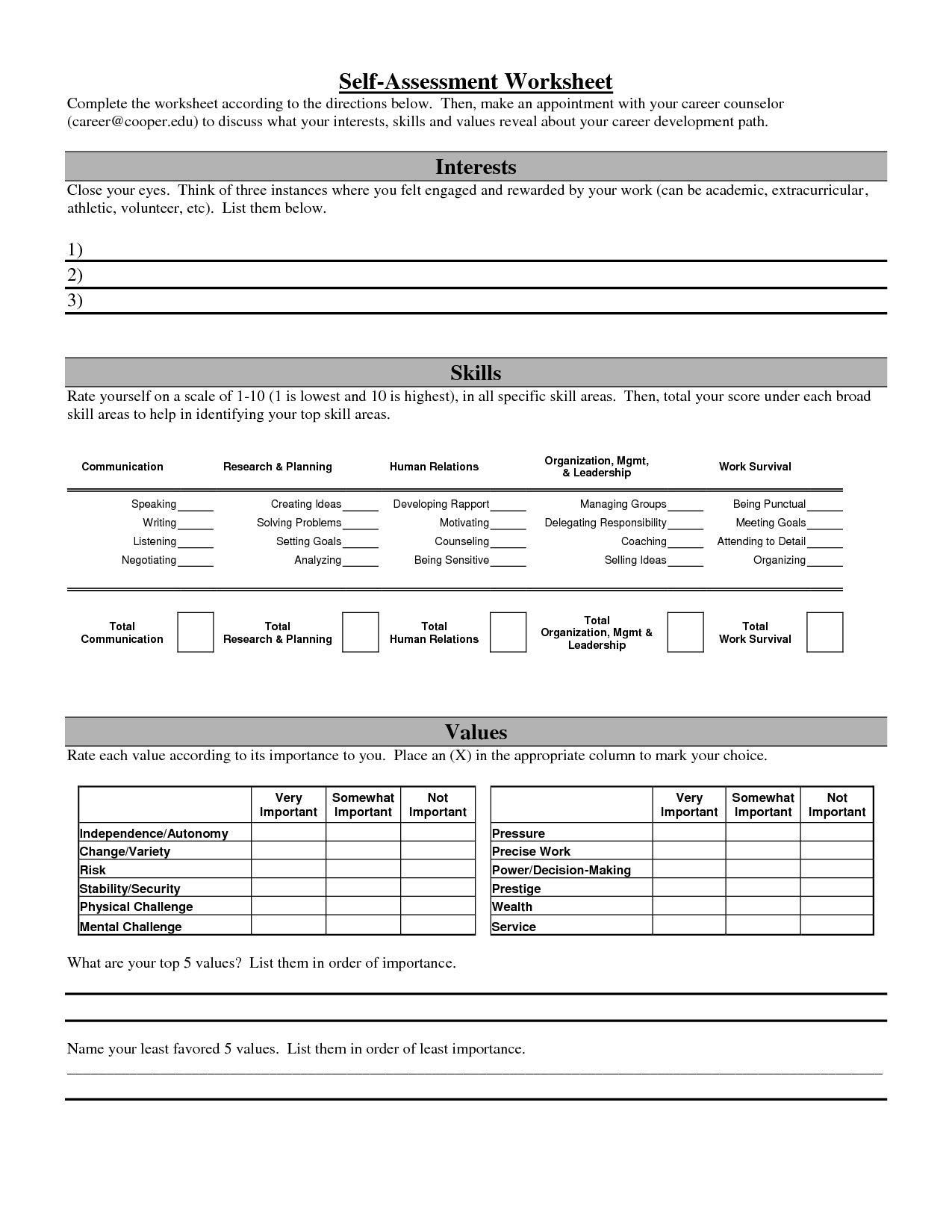 Building Healthy Relationships Worksheets
