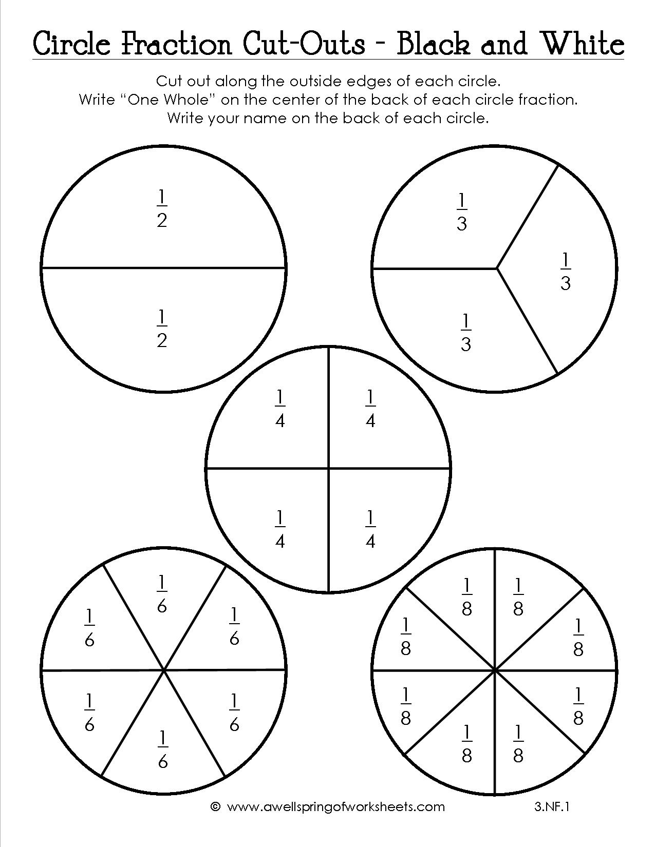 Printable Fraction Circles That Are Bright