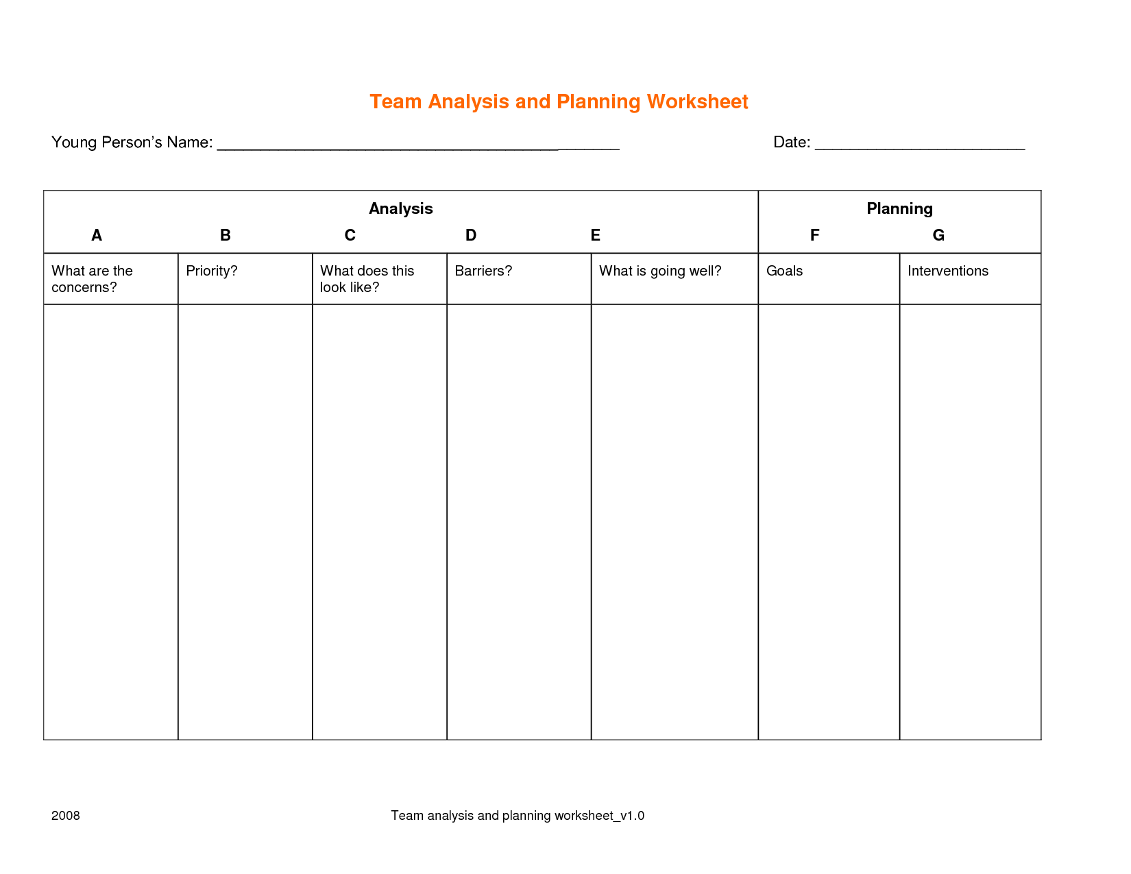 16 Best Images Of Example Goal Setting Worksheet