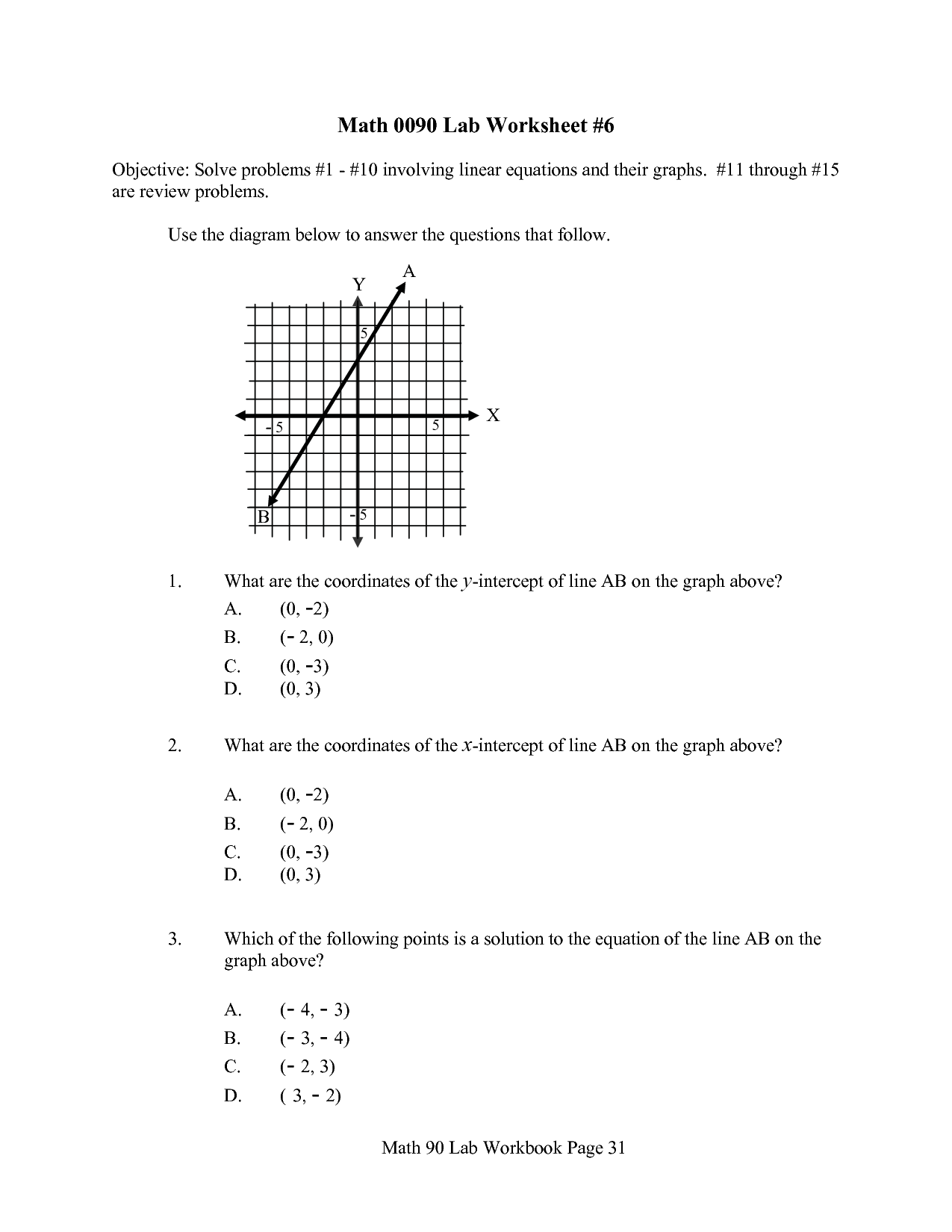 31 Linear Equation Word Problems Worksheet With Answers