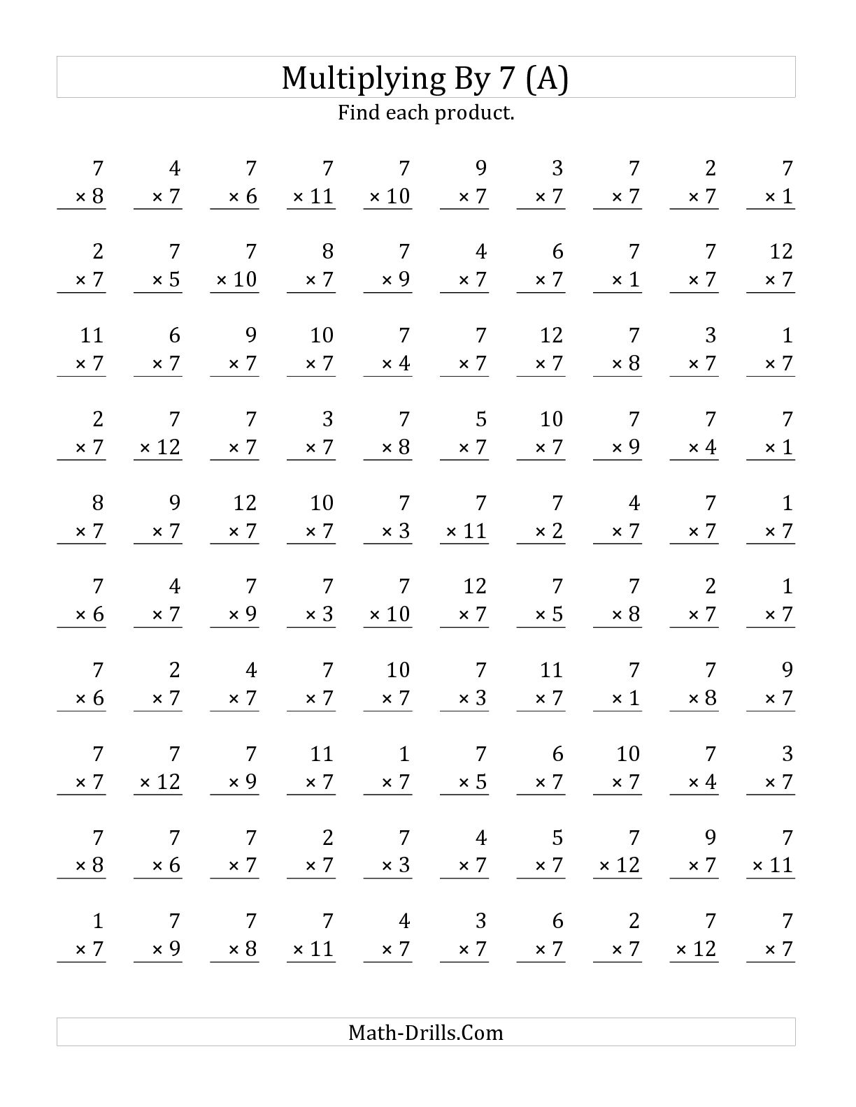 15 Best Images Of 8s Multiplication Worksheets