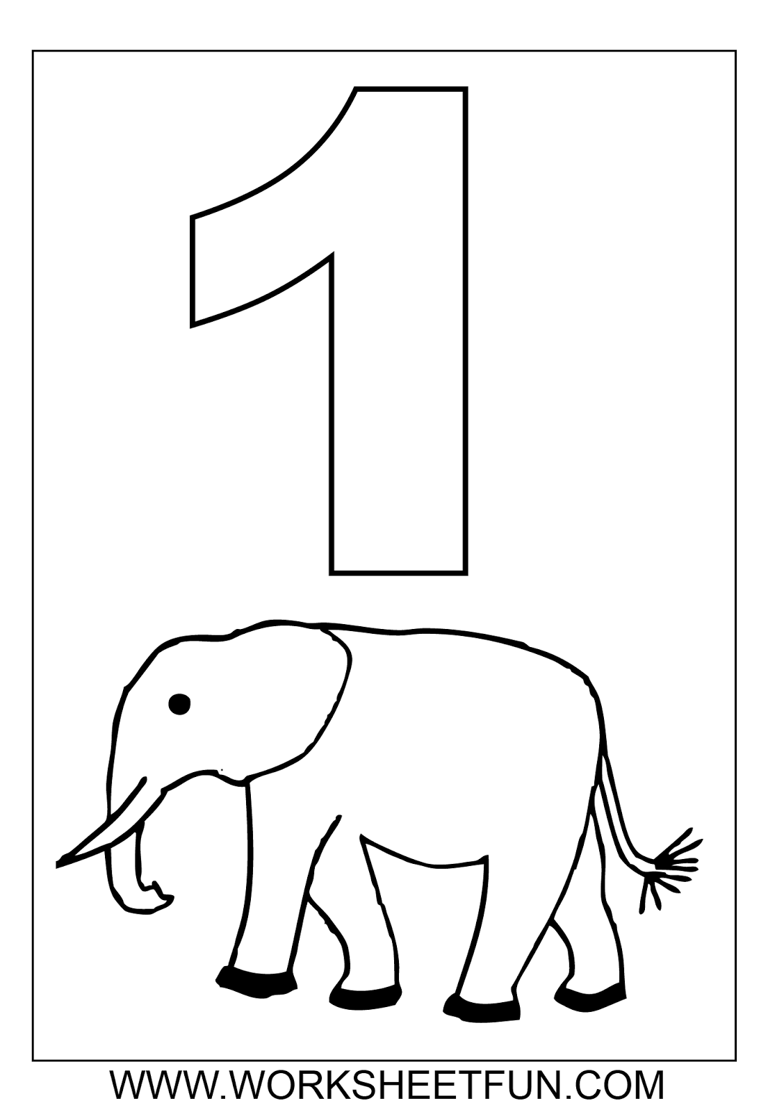 13 Best Images Of Number 1 Worksheets To Print