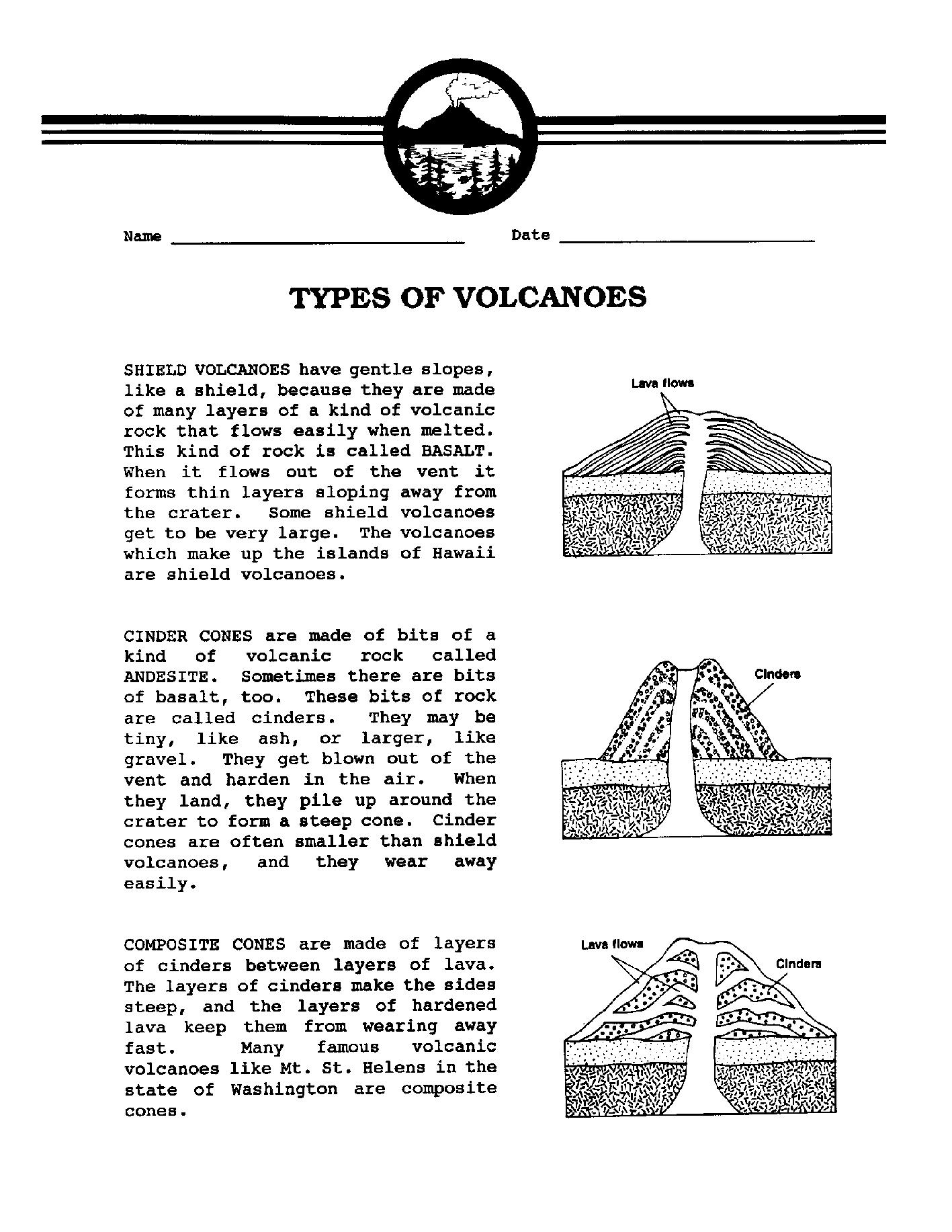 18 Best Images Of Volcano Worksheets Grade 3