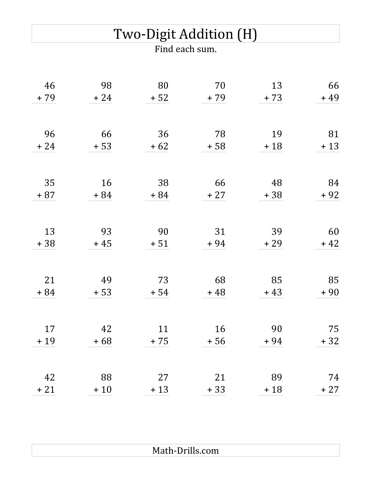 18 Best Images Of 1st Grade Math Worksheets Addition With