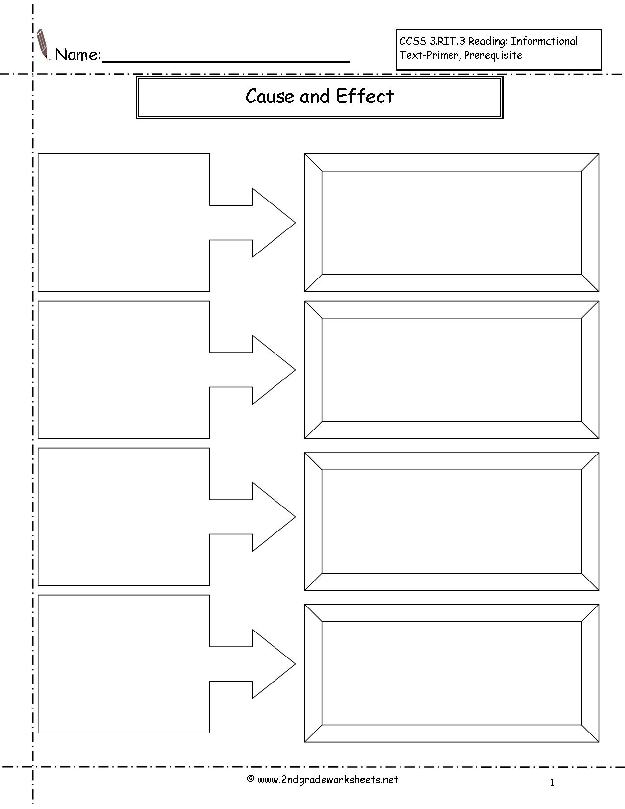 16 Best Images Of Cause And Effect Sentences Worksheet