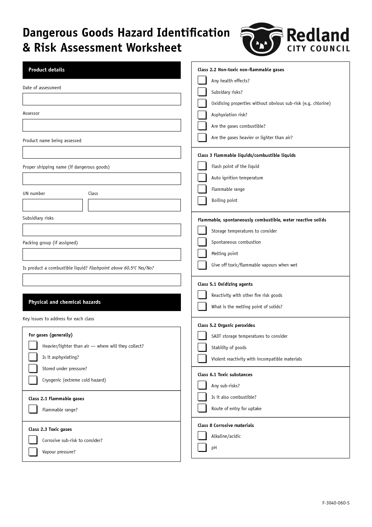 16 Best Images Of Risk Assessment Worksheet Deliberate