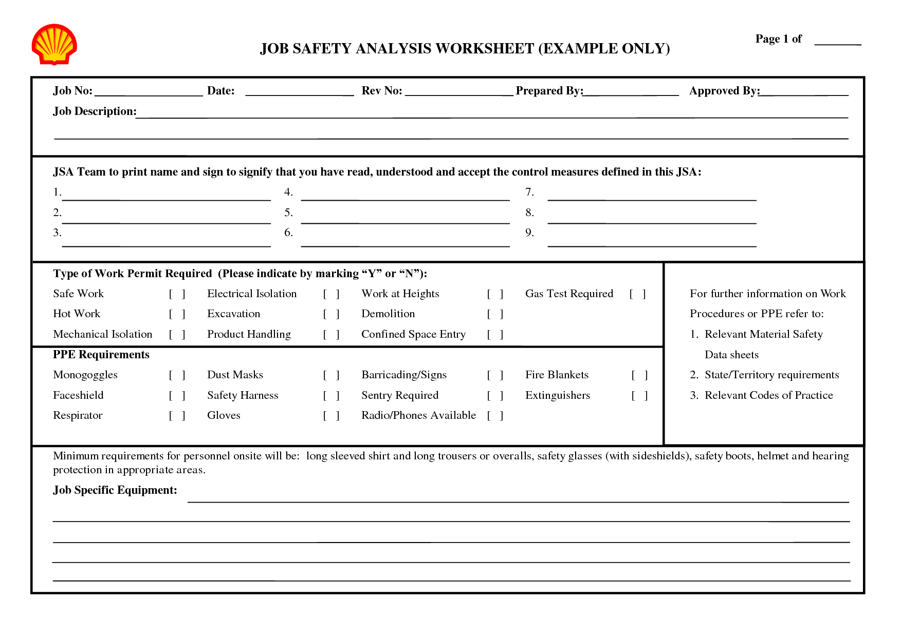 9 Best Images Of On The Job Safety Worksheets