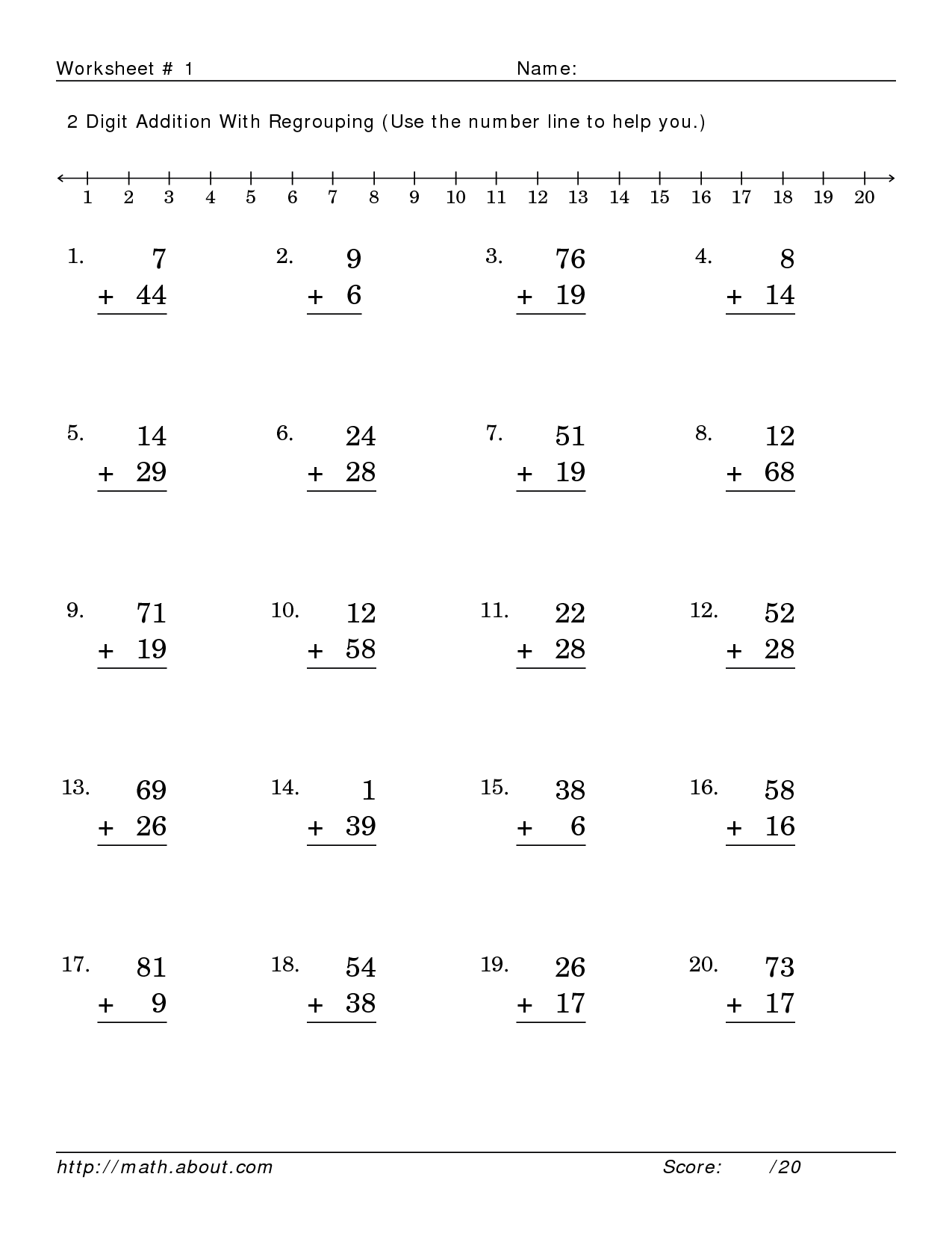 9 Best Images Of Third Grade Math Addition Worksheets