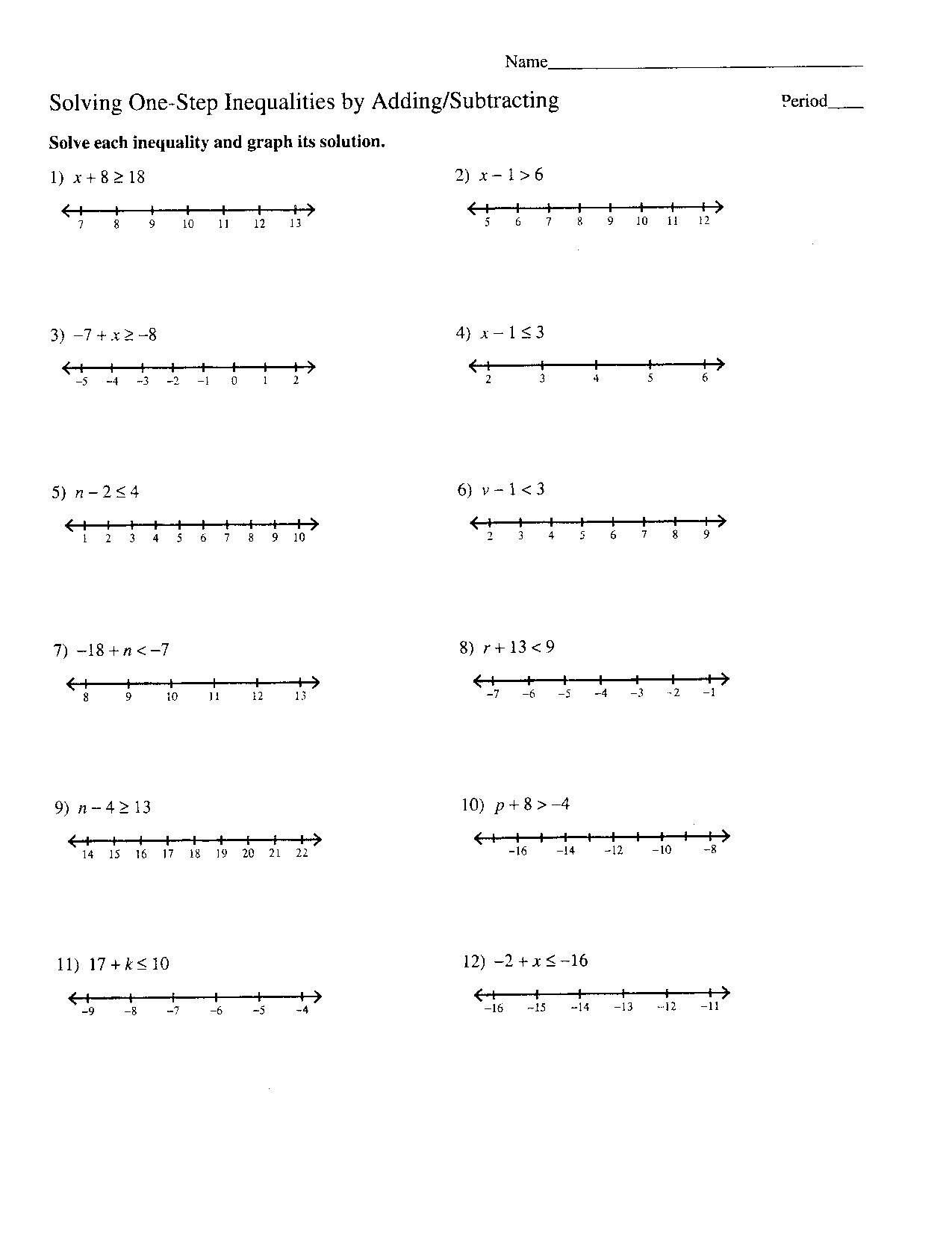 11 Best Images Of Inequalities Worksheet Kuta Software