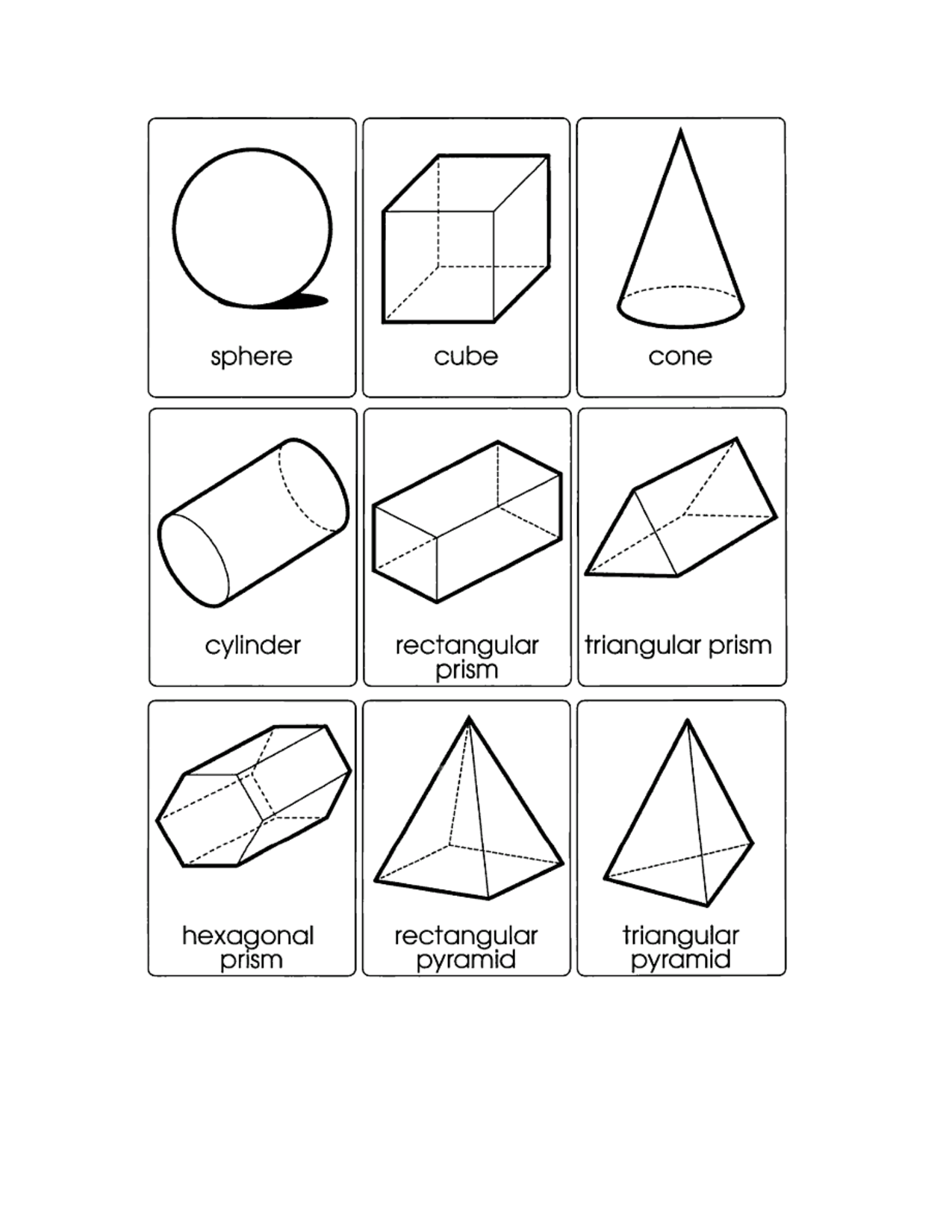 12 Best Images Of 3d Shapes Faces Edges Vertices Worksheet