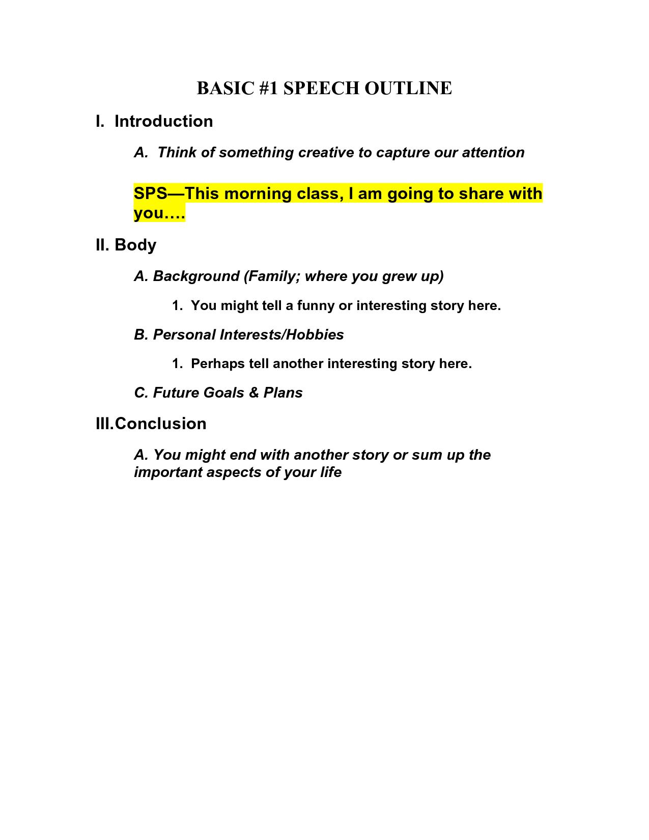 13 Best Images Of Basic Essay Outline Worksheet