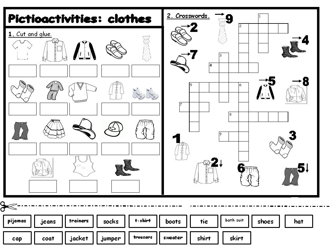 12 Best Images Of Spanish Clothing Printable Worksheet