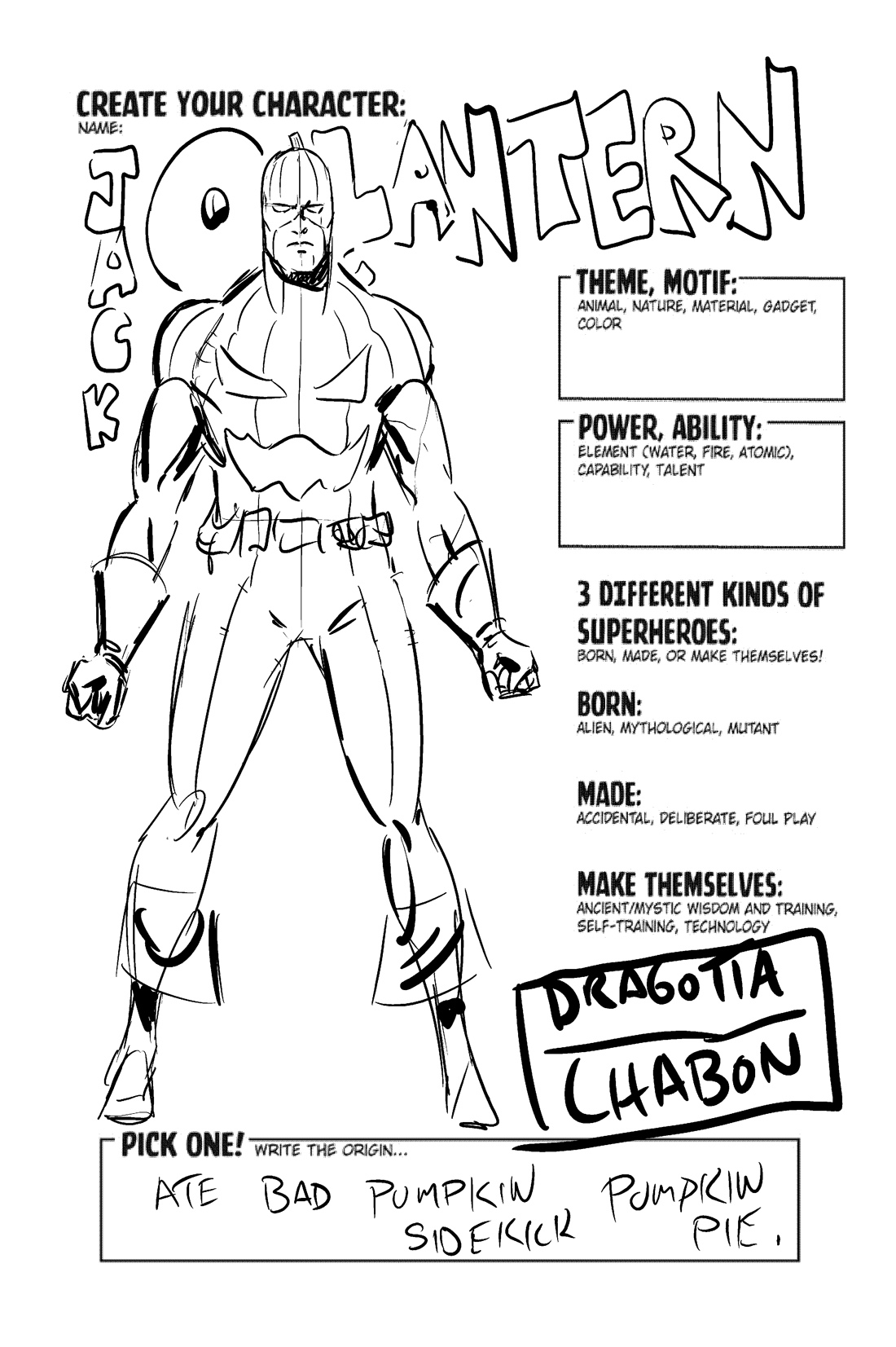 15 Best Images Of Create A Superhero Worksheet
