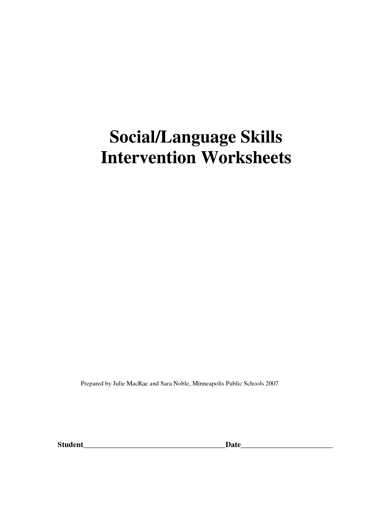 16 Best Images Of Printable Social Skills Worksheets
