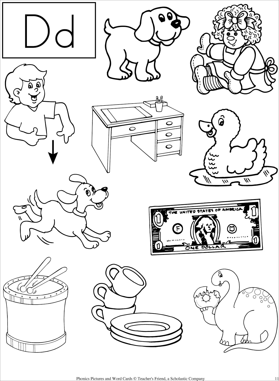 15 Best Images Of Letter D Worksheets For Pre K