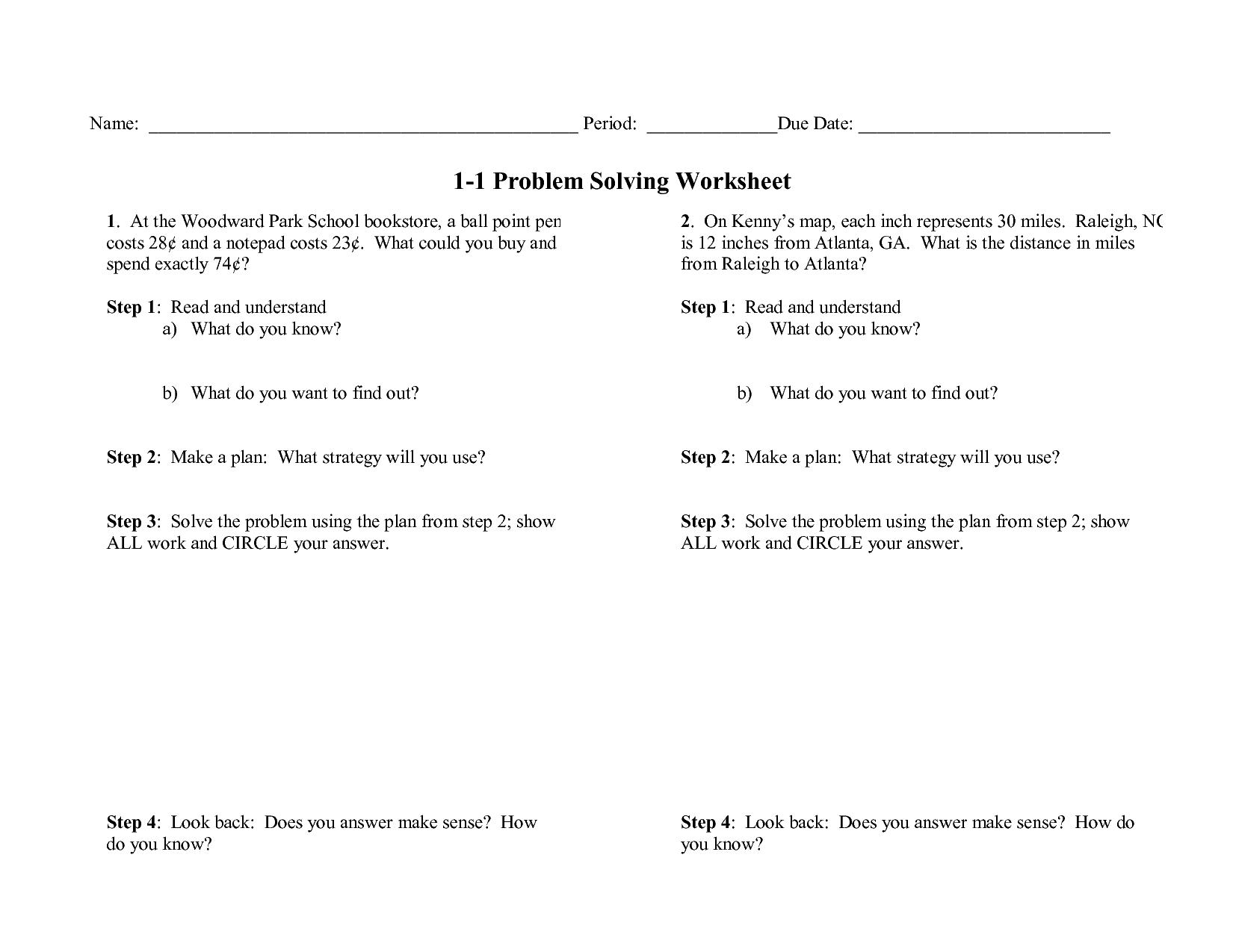 15 Best Images Of Adult Problem Solving Worksheets