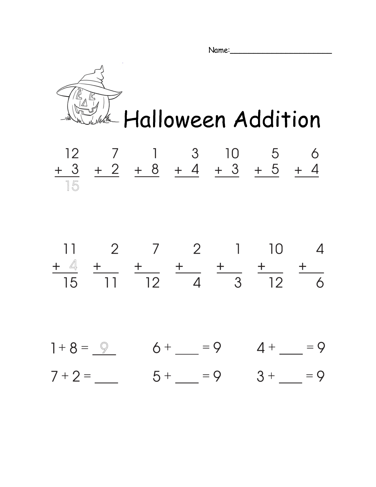 11 Addition And Subtraction Worksheet For First Grade