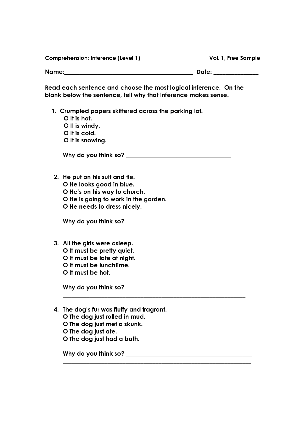 15 Best Images Of Vocabulary Inference Worksheet