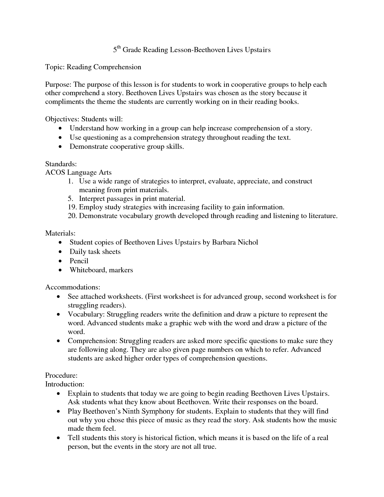 15 Best Images Of Reading Comprehension Worksheets For Grade 1