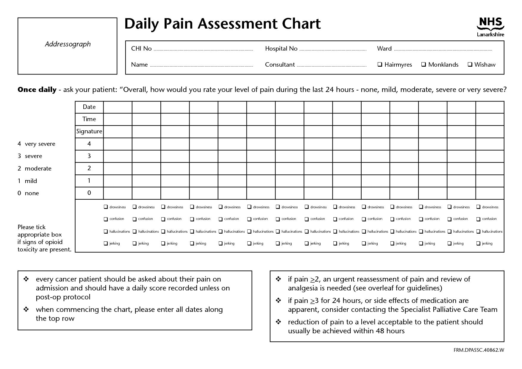 Chart Audit Worksheet