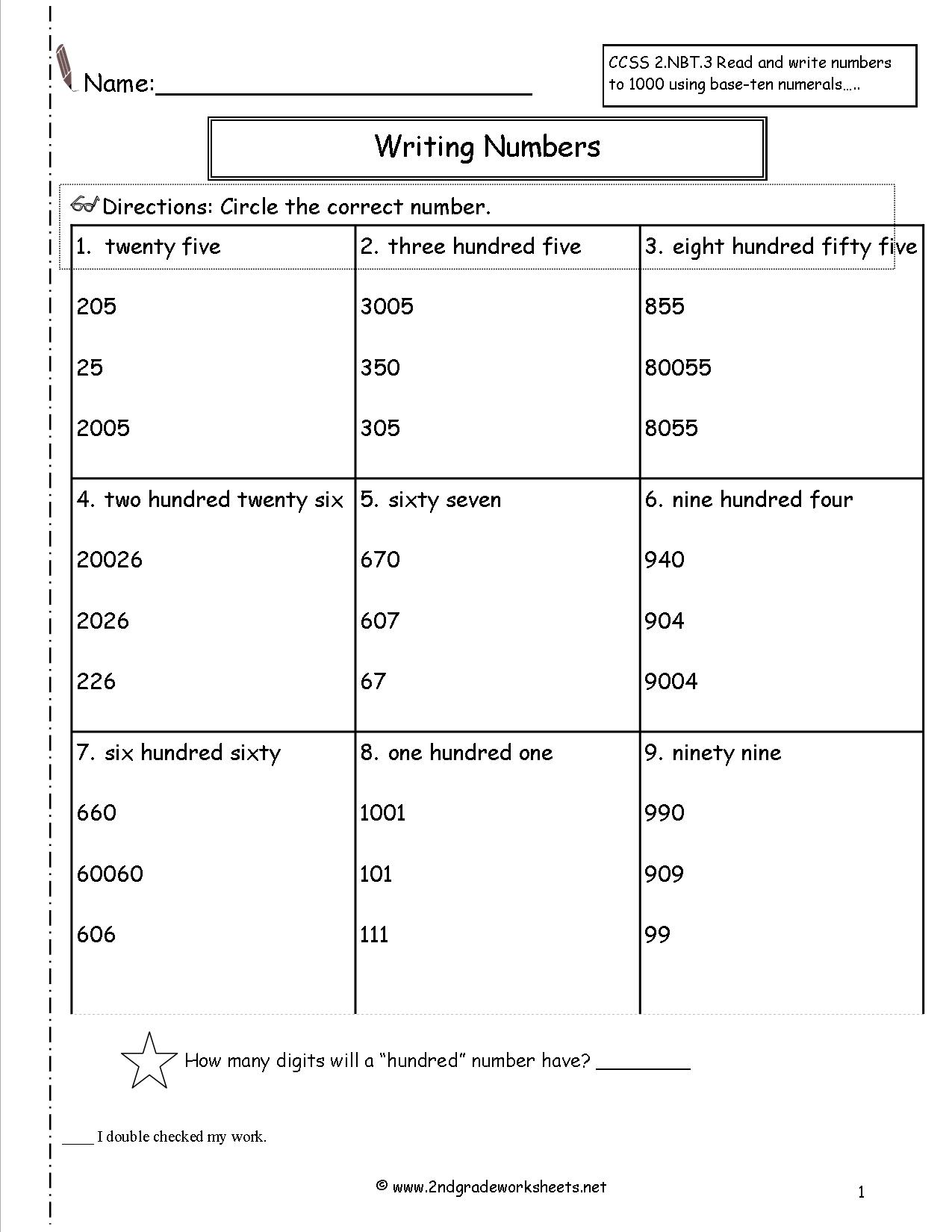 Different Ways To Write Numbers 2nd Grade