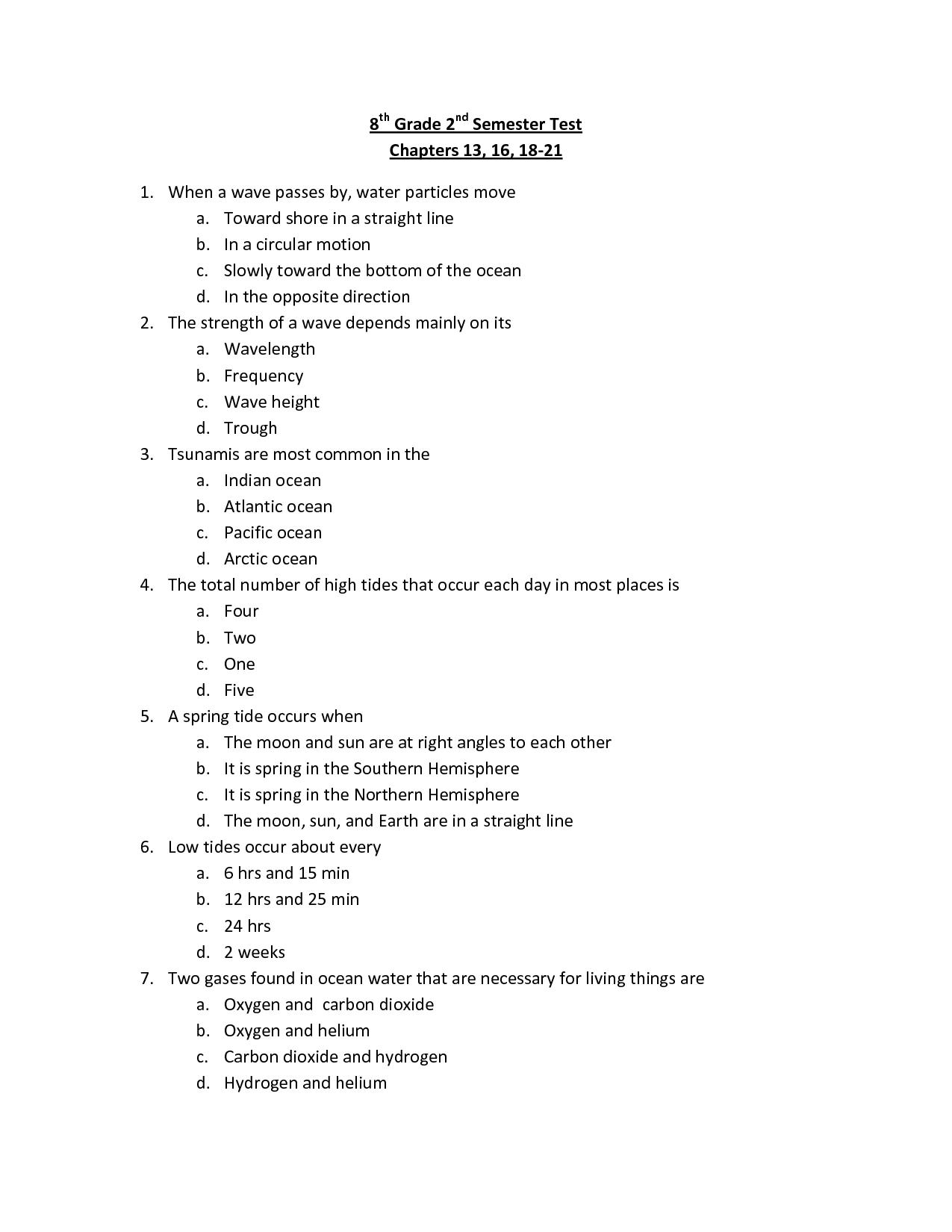 32 8th Grade History Worksheet