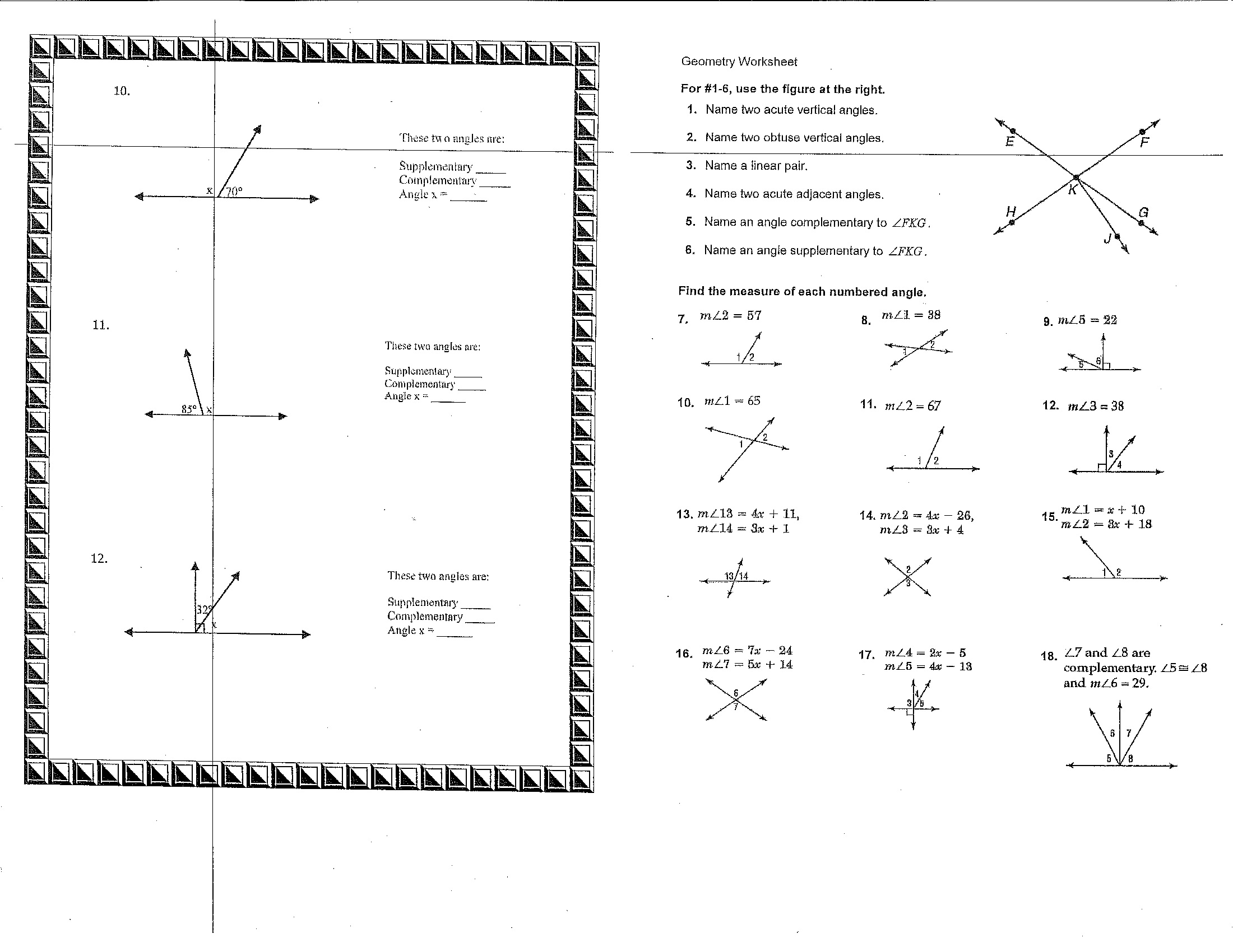 Year 7 Math Worksheet Qld