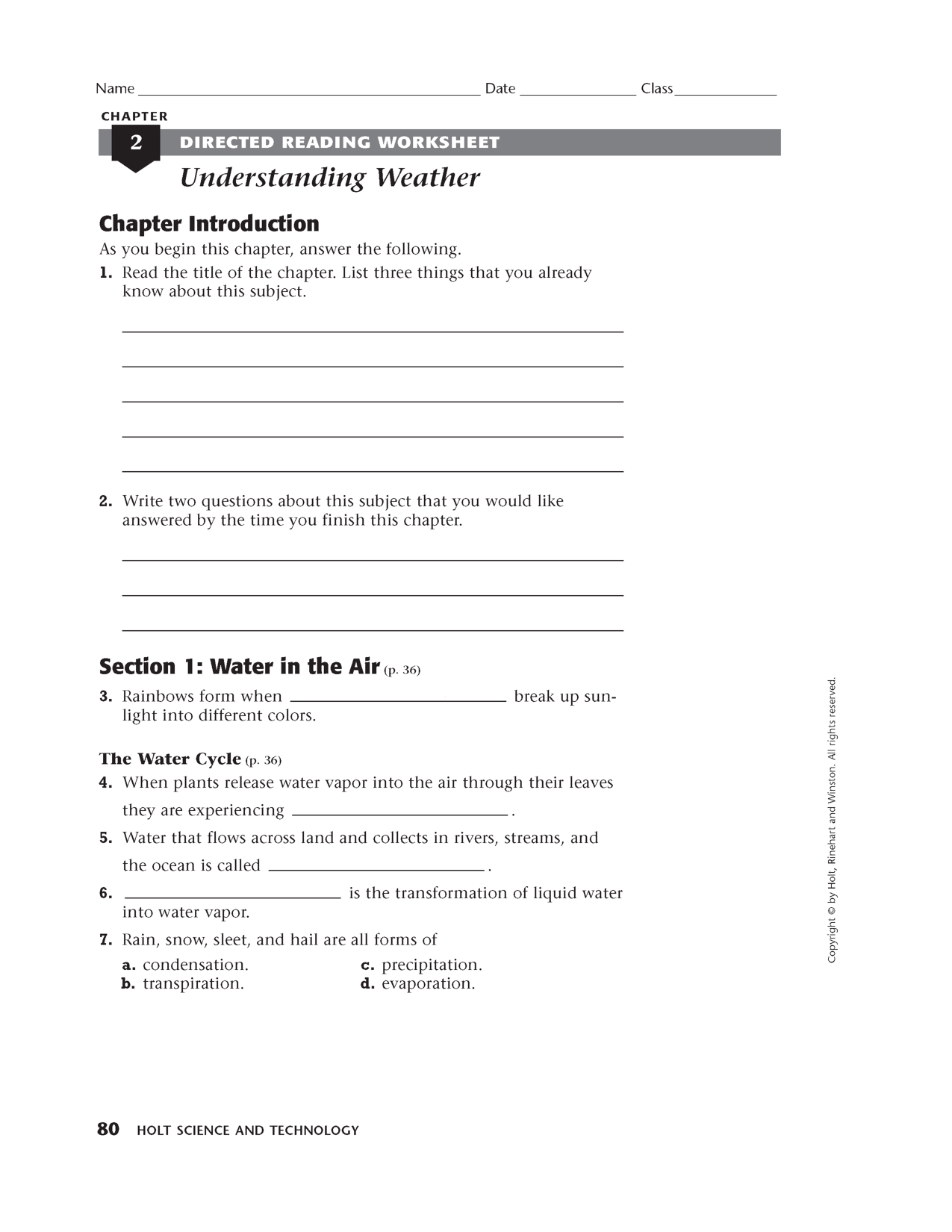 12 Best Images Of Earth Science Worksheets Printable
