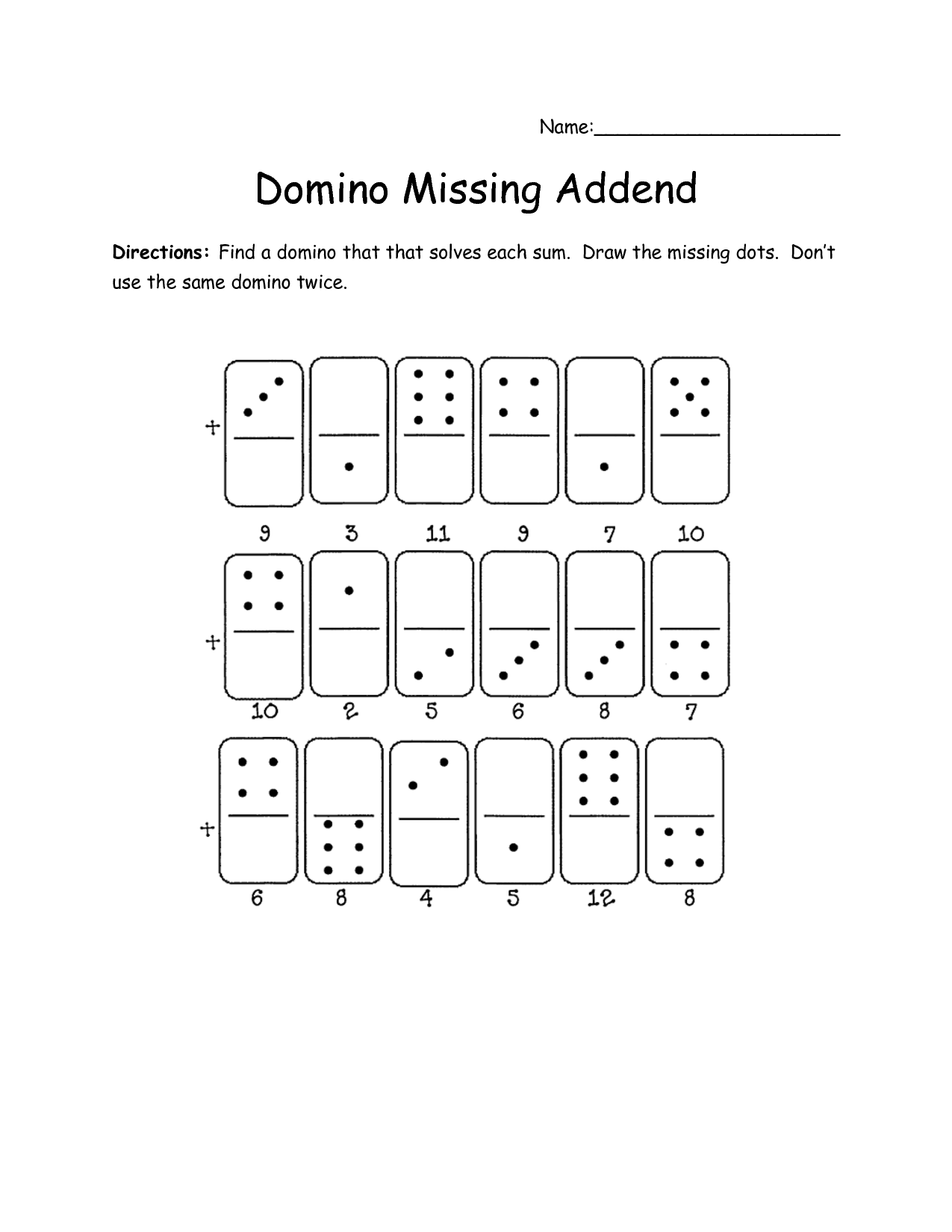 16 Best Images Of Worksheets For First Grade Missing