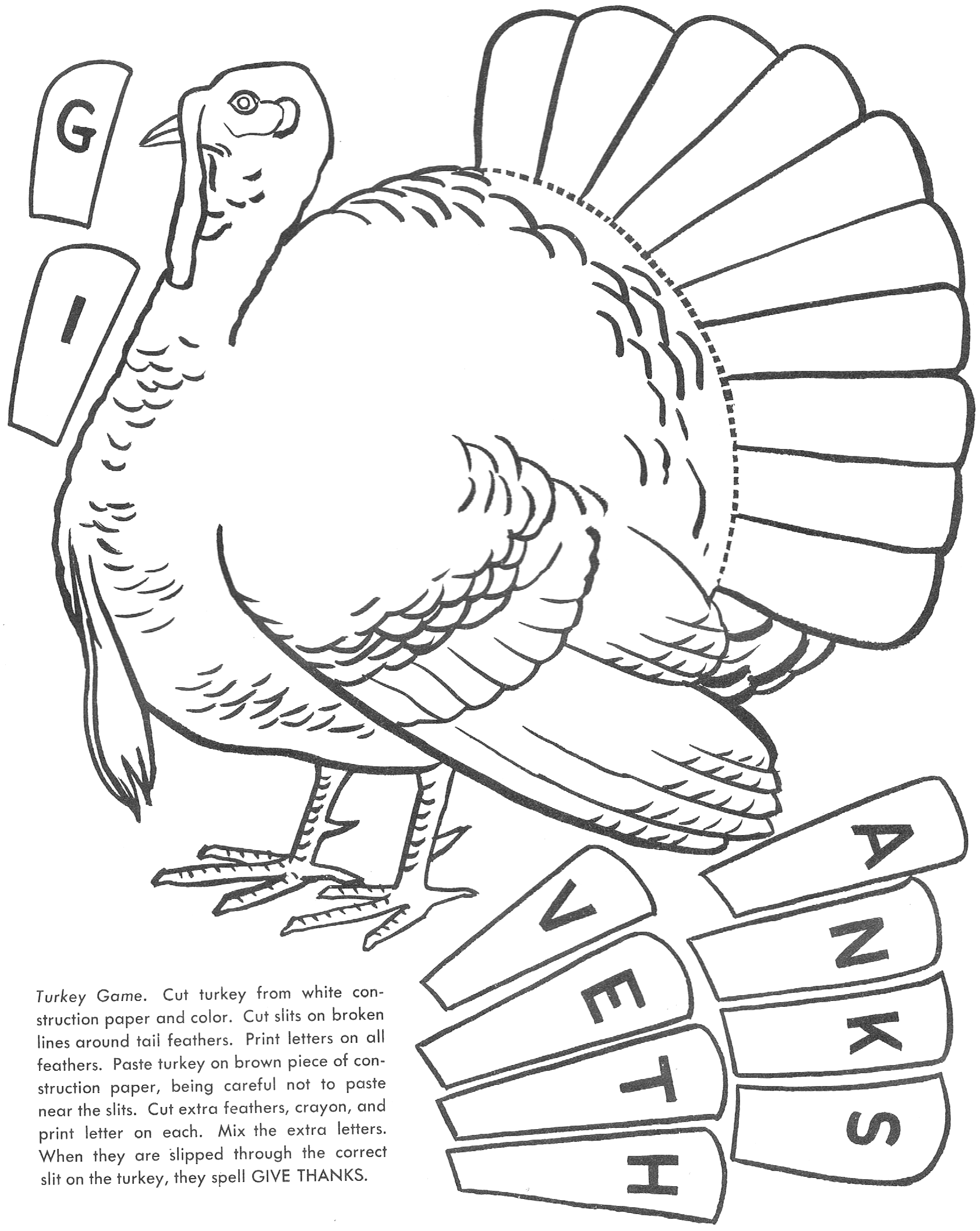 6 Best Images Of Thanksgiving Cut And Paste Worksheets