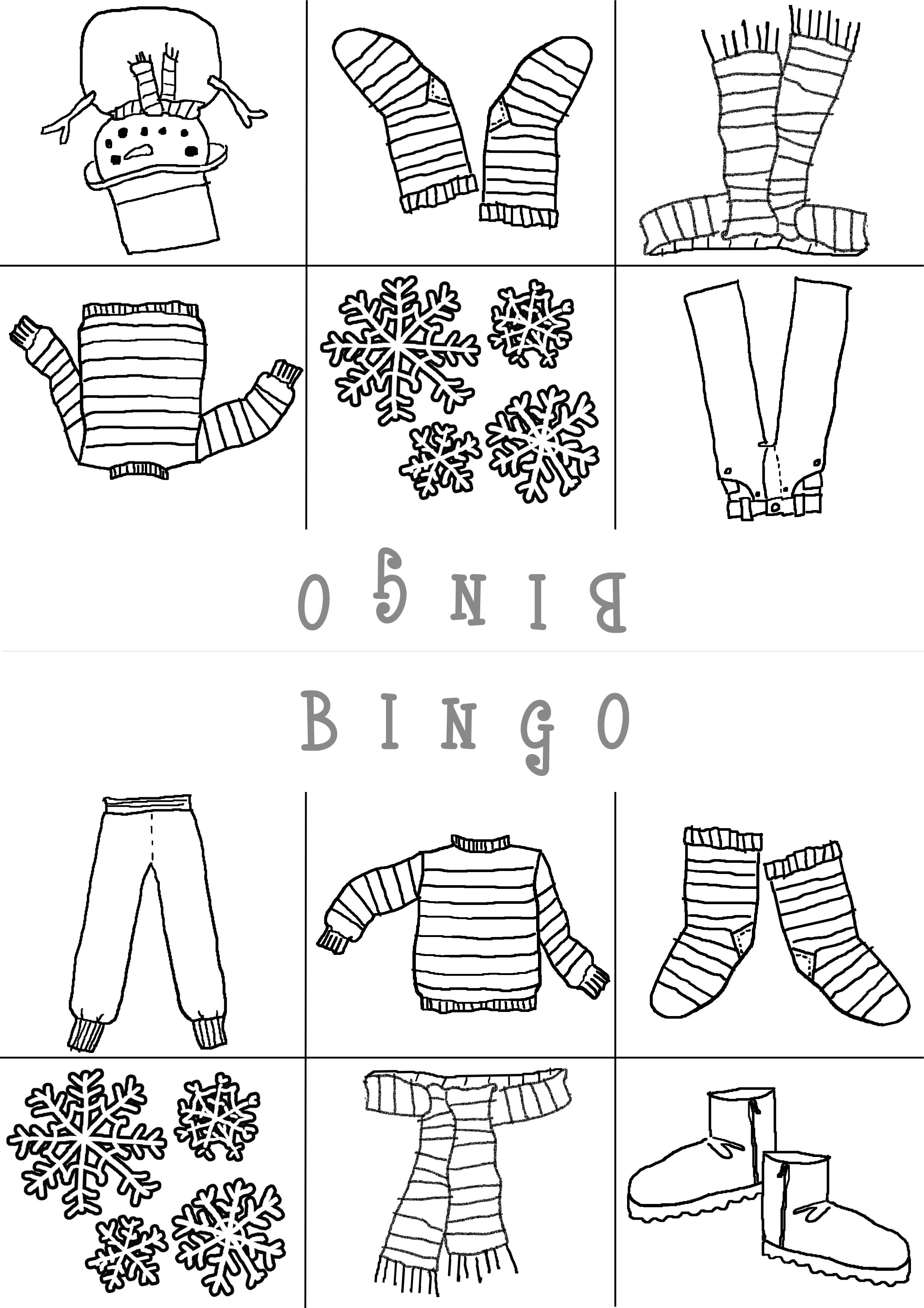 11 Best Images Of Preschool Winter Clothes Worksheets