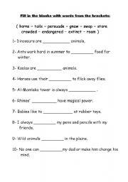 16 Best Images Of 4 Grade Grammar Worksheet