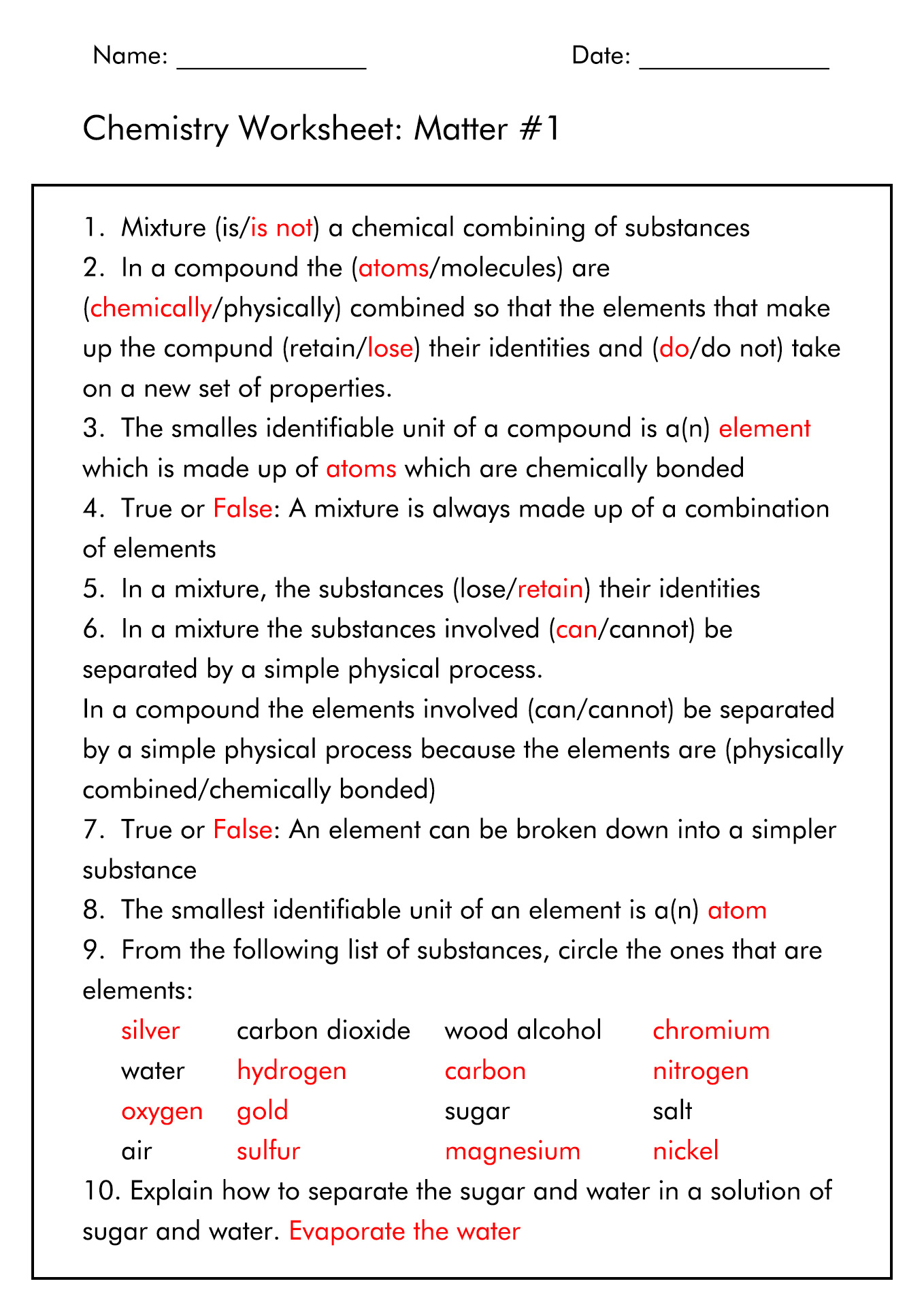 11 Best Images Of Organic Chem Worksheet With Answers
