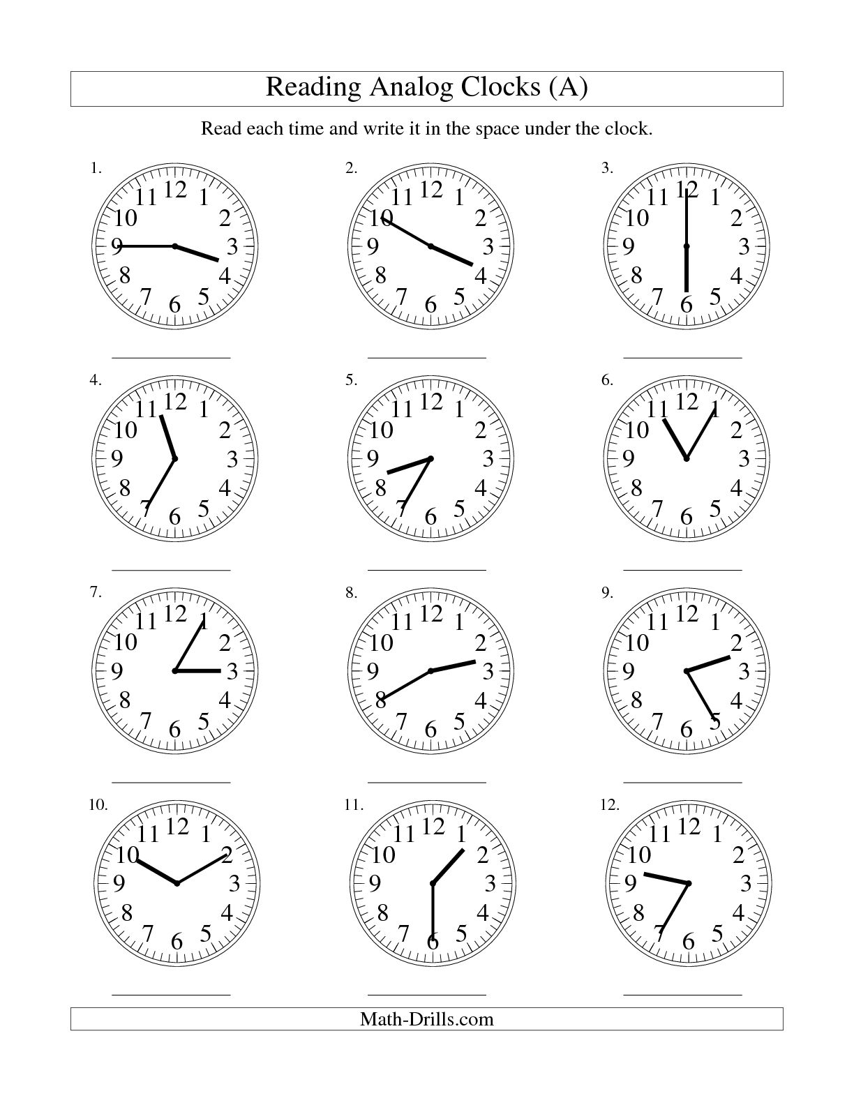 5 Minute Worksheet