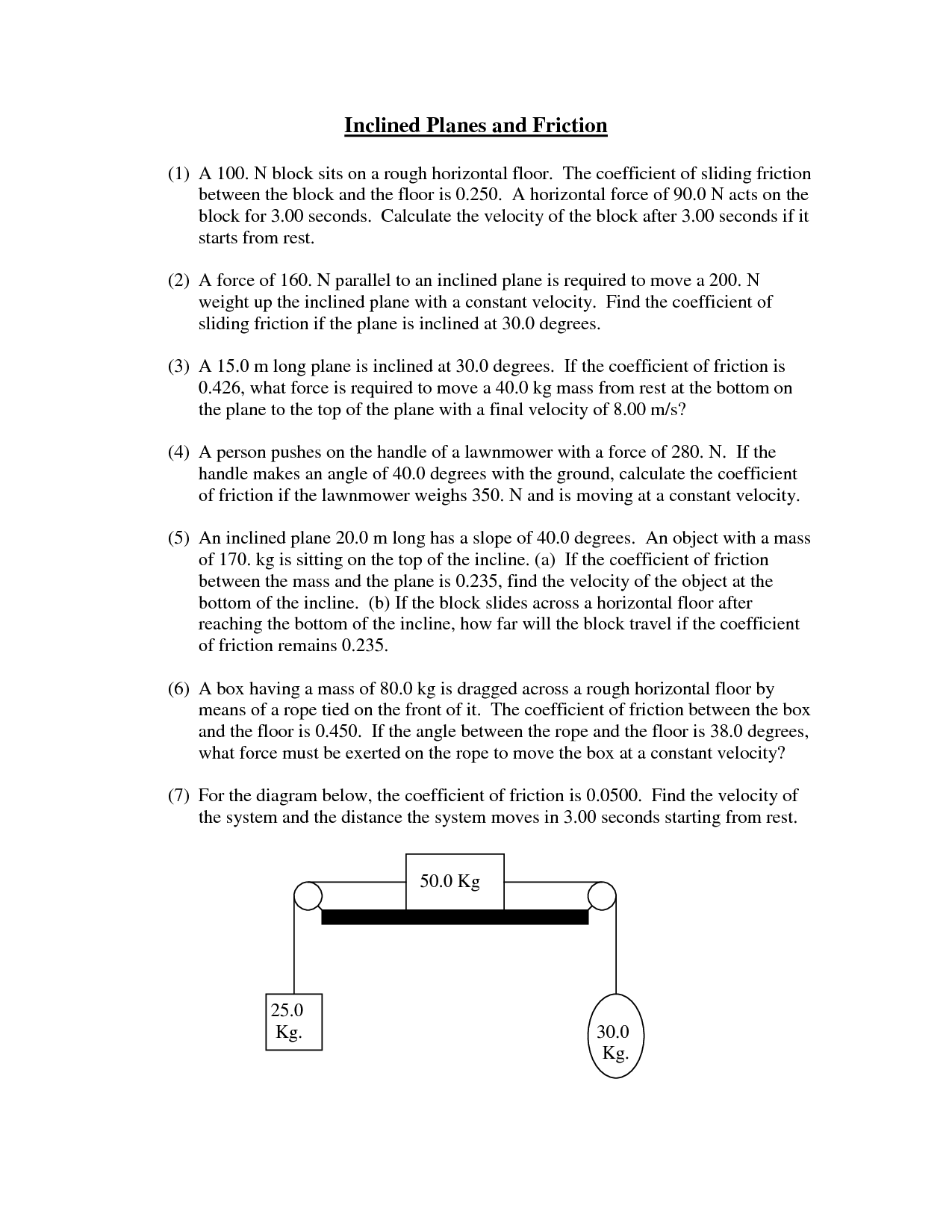 13 Best Images Of Friction Experiment Worksheet