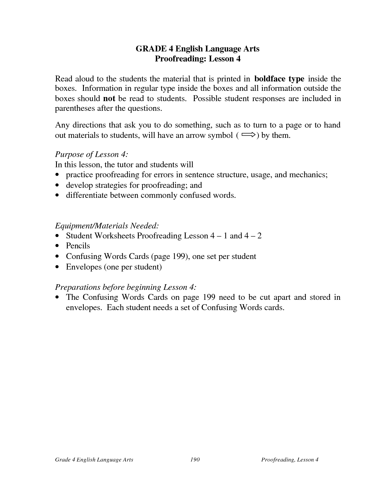 9 Best Images Of 4th Grade Language Arts Worksheets