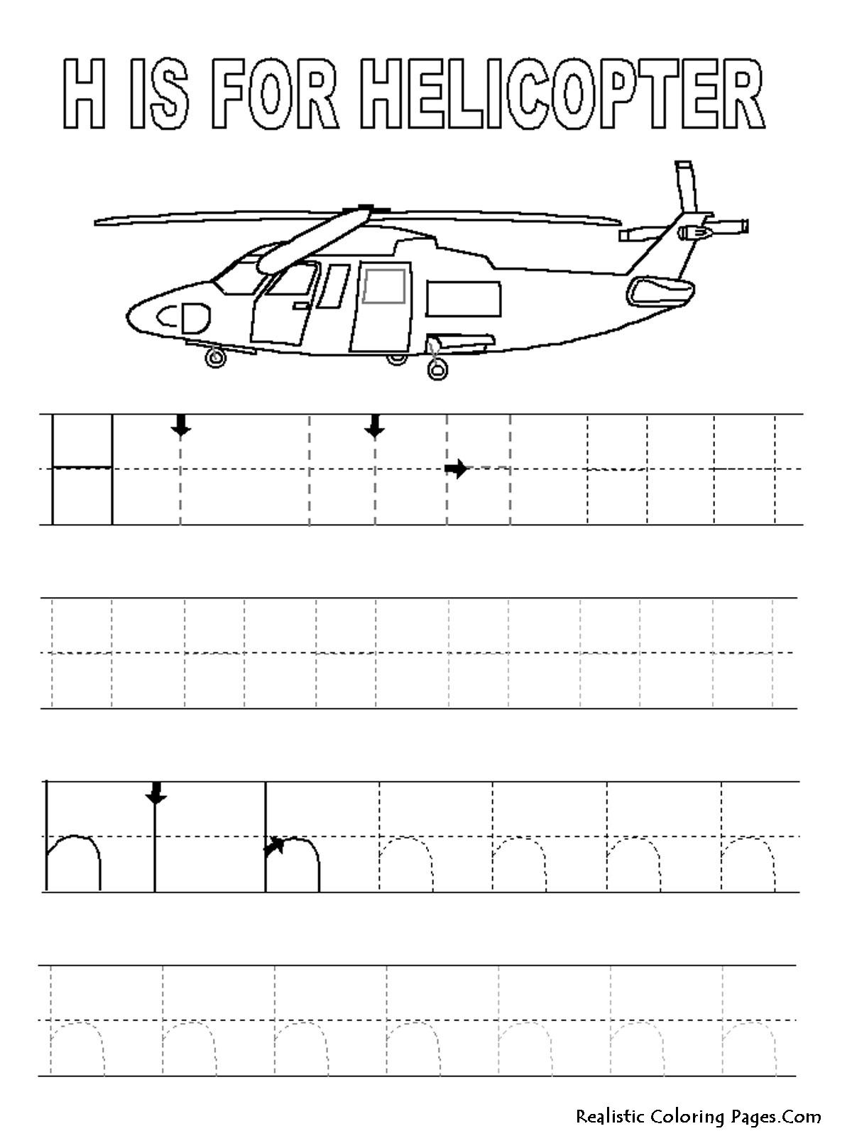12 Best Images Of Letter H Tracing Worksheets