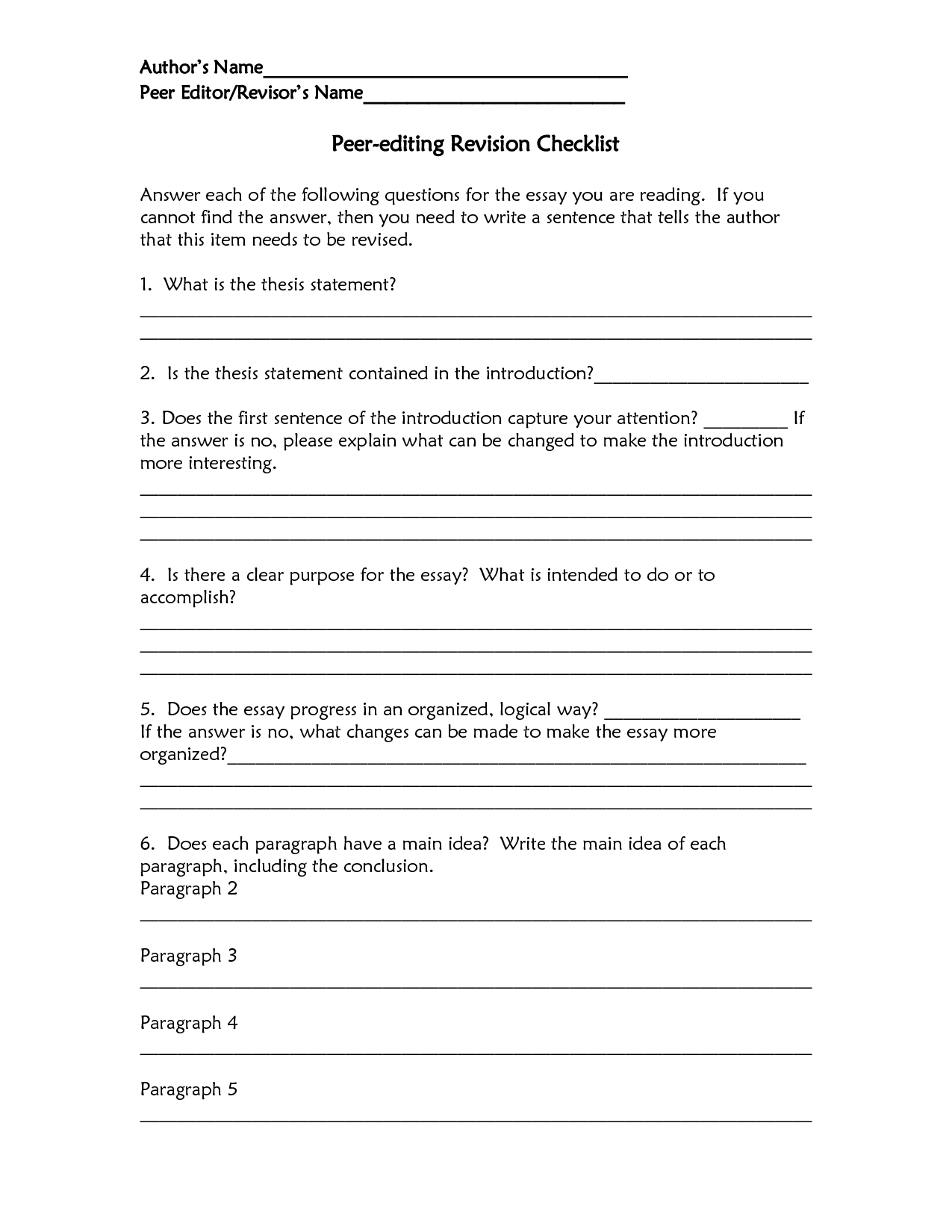 11 Best Images Of Answers For Worksheet Editing